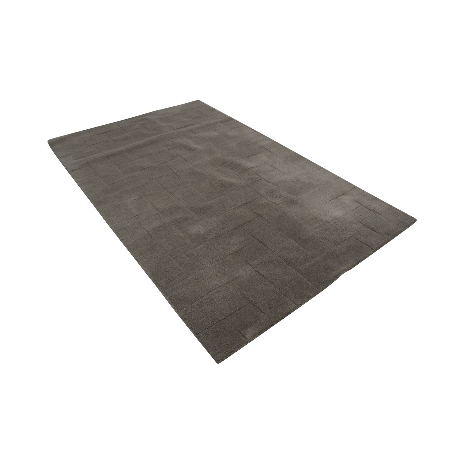 West Elm West Elm Solid Angled Basket Weave Grey Rug price