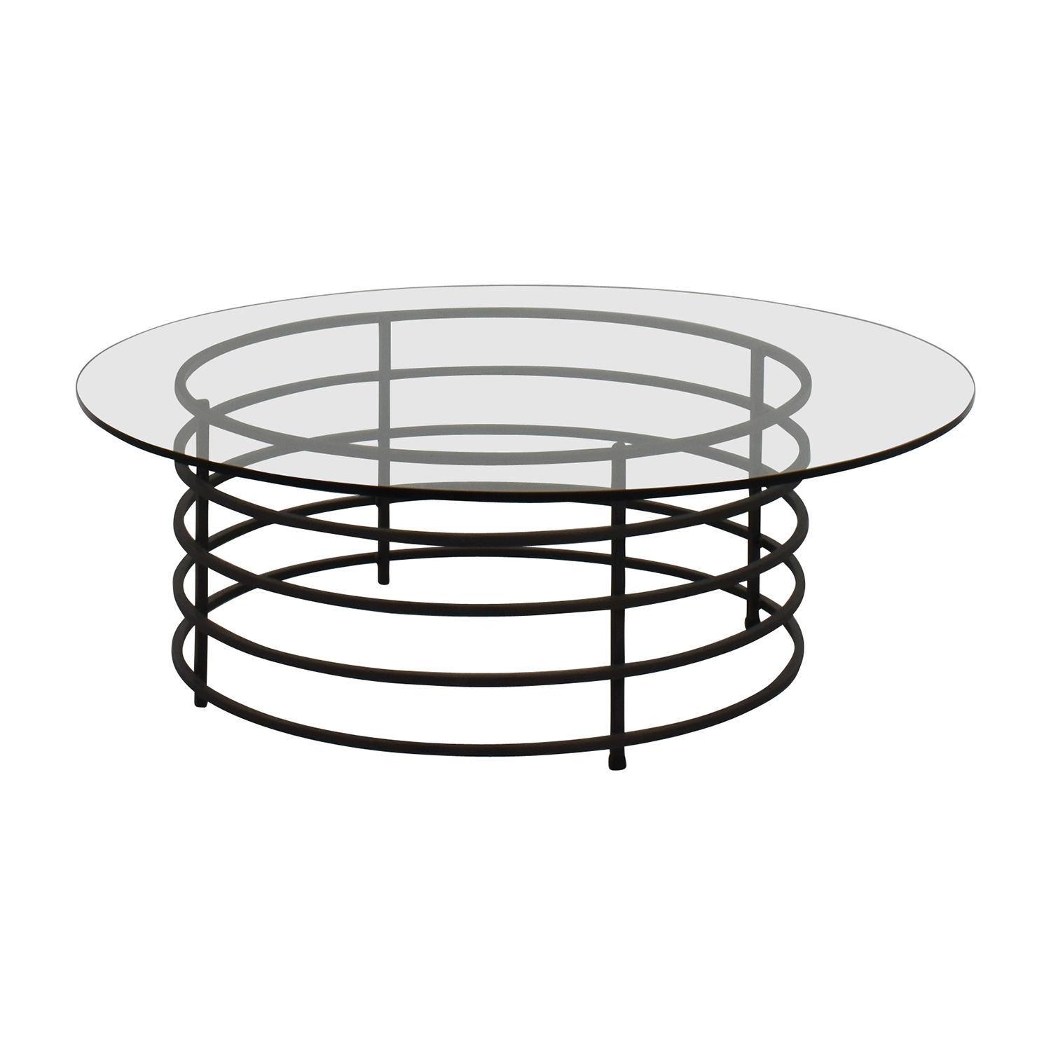 buy Room & Board Round Glass and Wrought Iron Table Room and Board