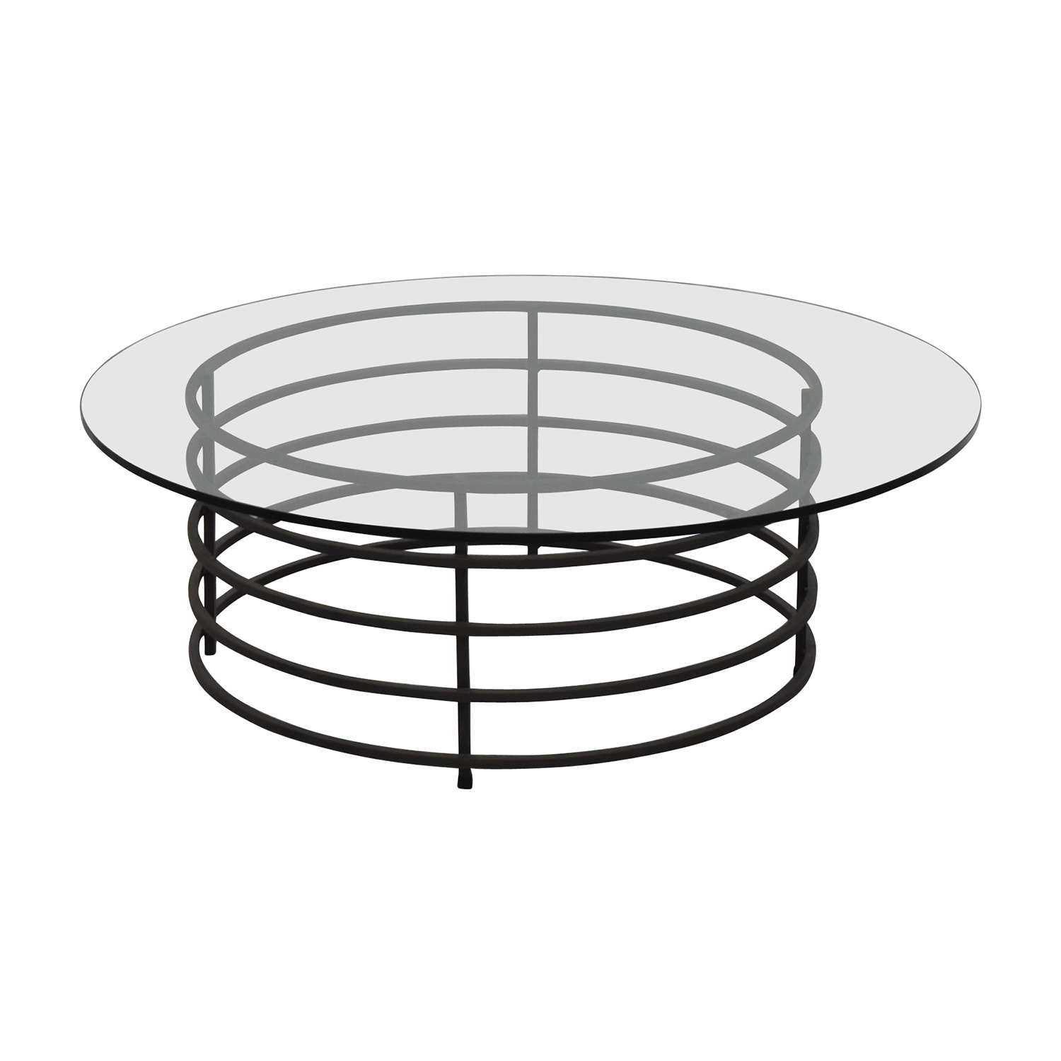 90 off room and board room board round glass and for Round glass top coffee table wrought iron