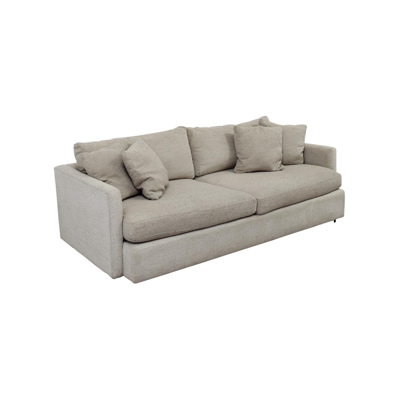 ... Crate U0026 Barrel Crate U0026 Barrel Cream Two Cushion Sofa Second ...