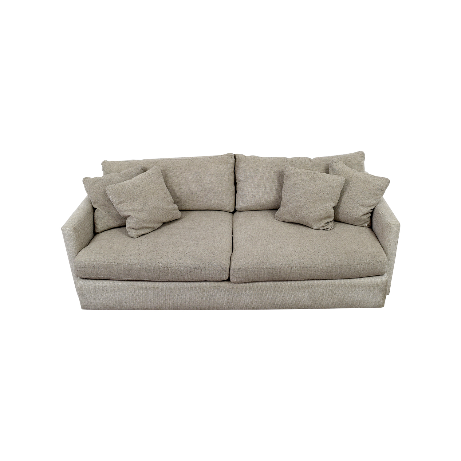 Crate & Barrel Crate & Barrel Cream Two-Cushion Sofa used