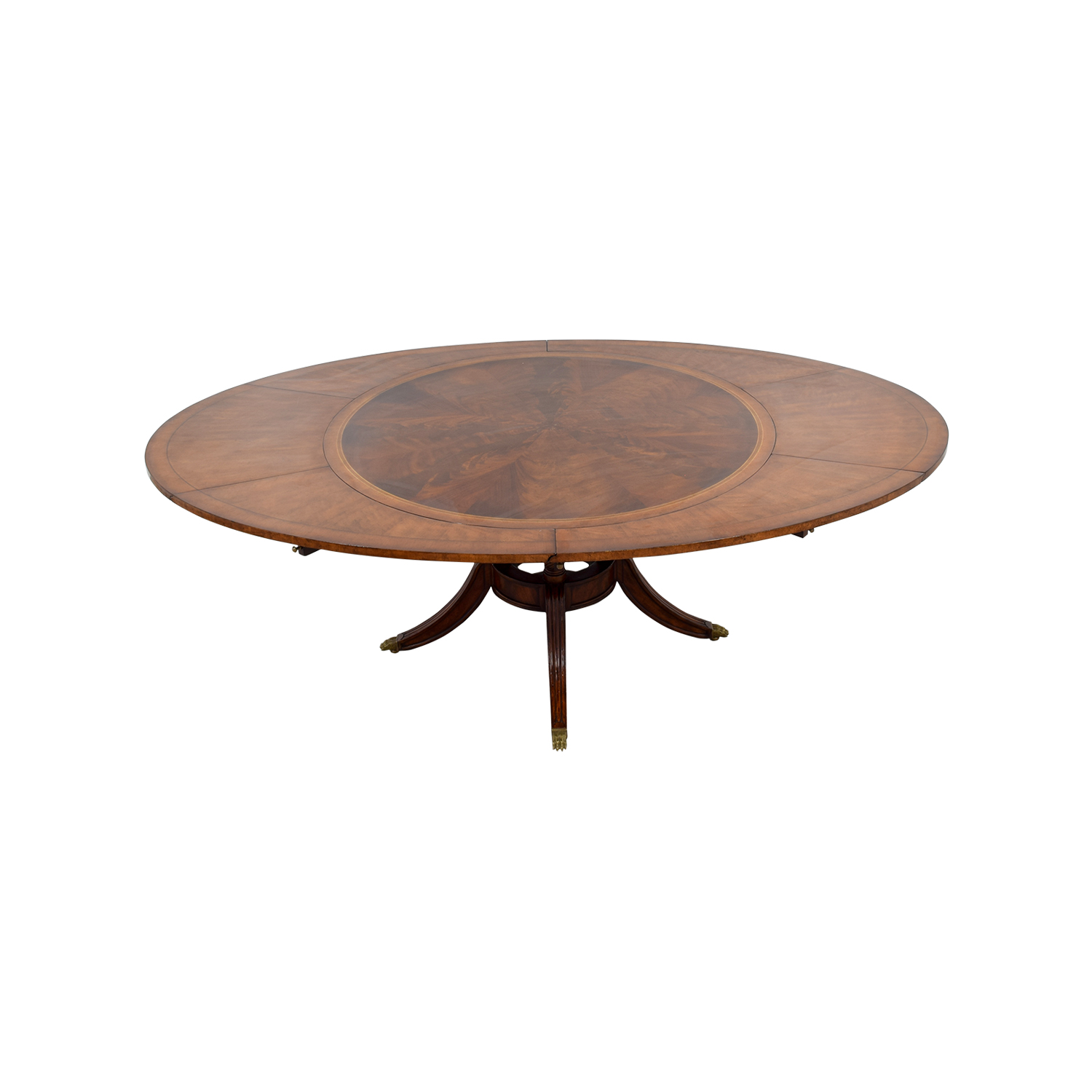 Jonathan Charles Jonathan Charles Mahogany Round To Oval Dining Room Table coupon