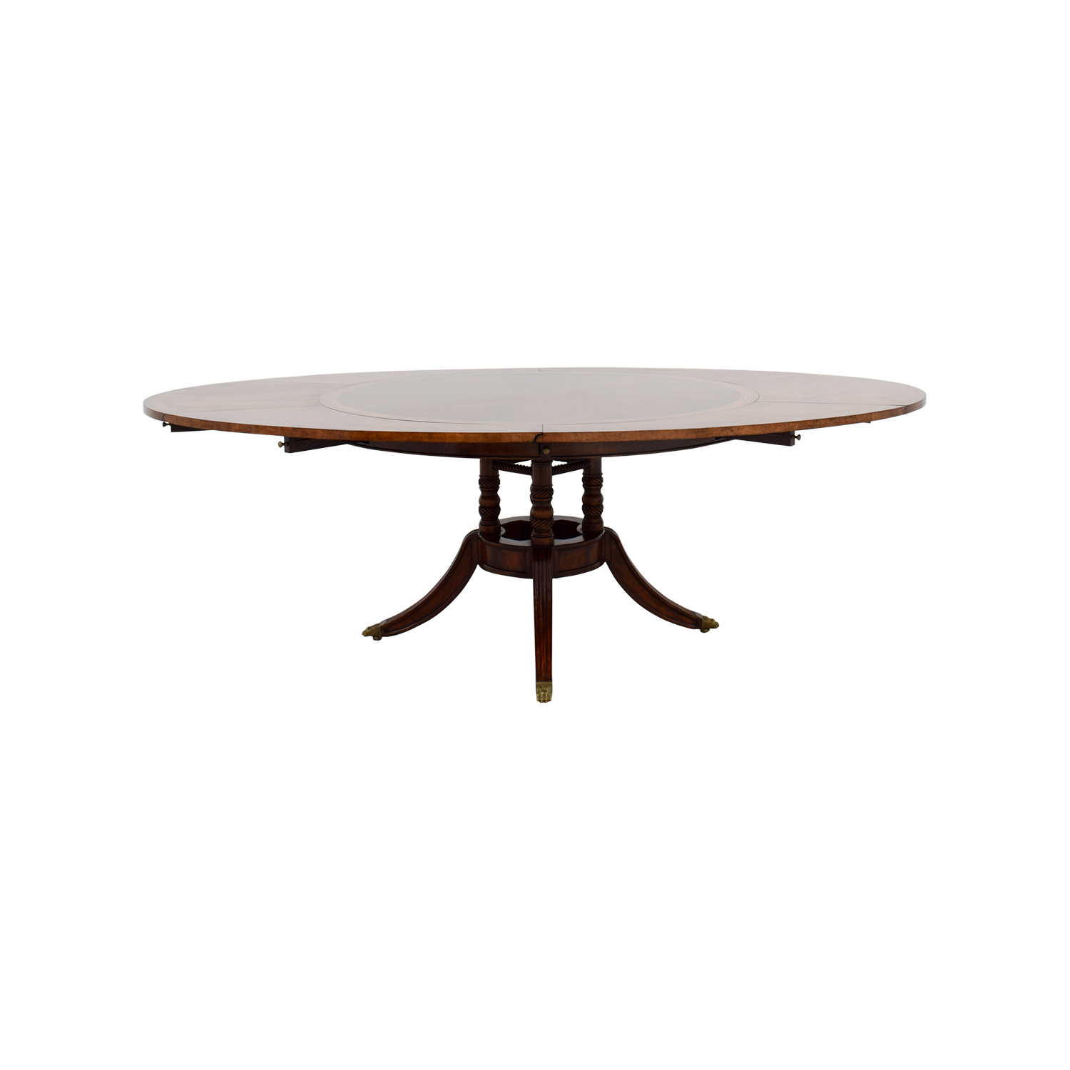 Jonathan Charles Jonathan Charles Mahogany Round To Oval Dining Room Table