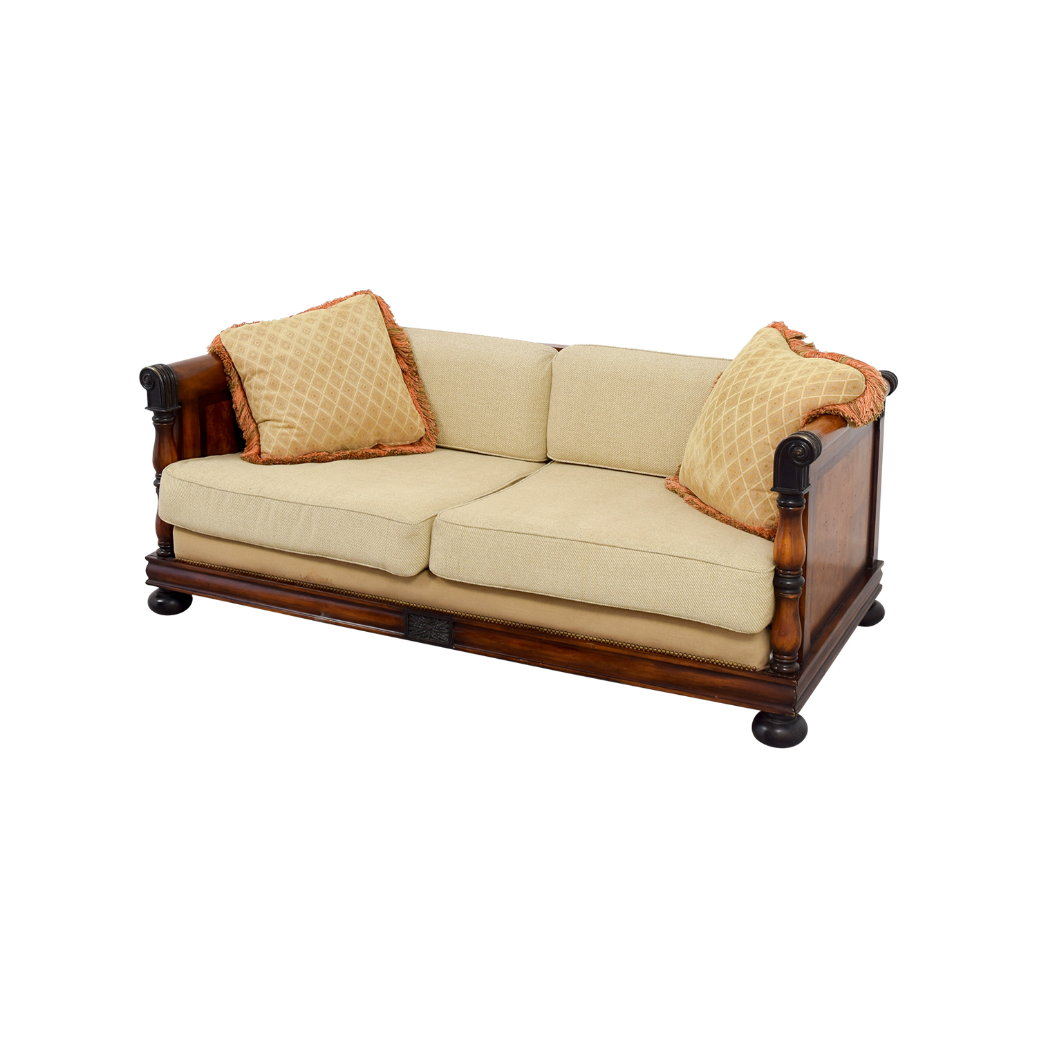 59% OFF Traditional Wooden Framed Sofa Sofas