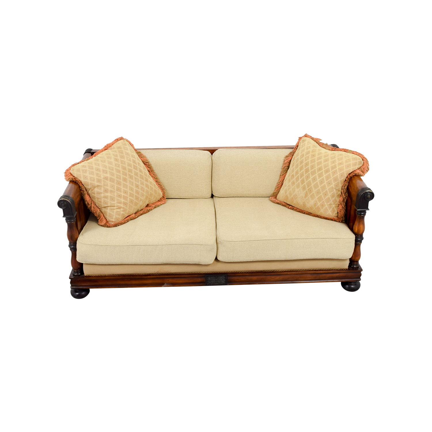 Traditional Wooden Framed Sofa nyc