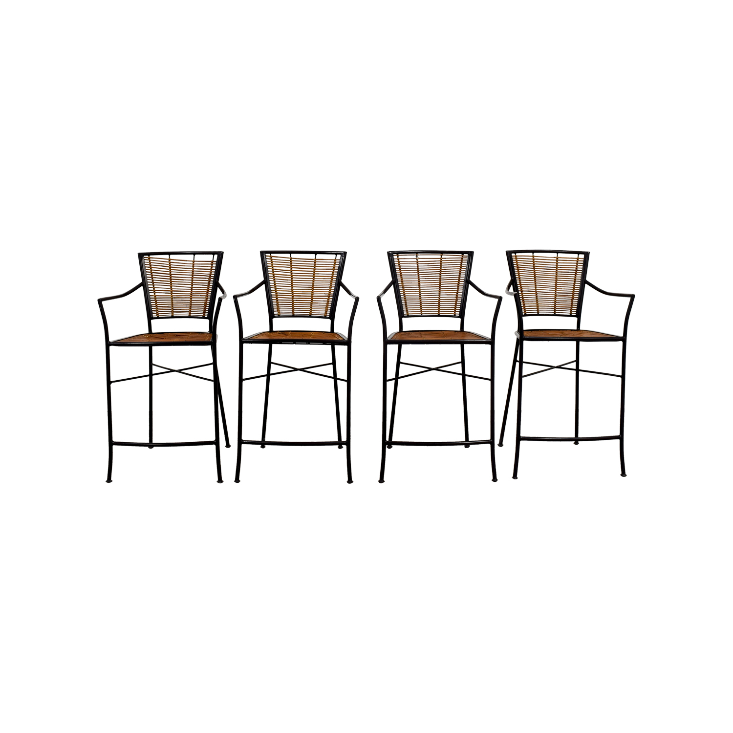 Wicker Bar Stools brown/black