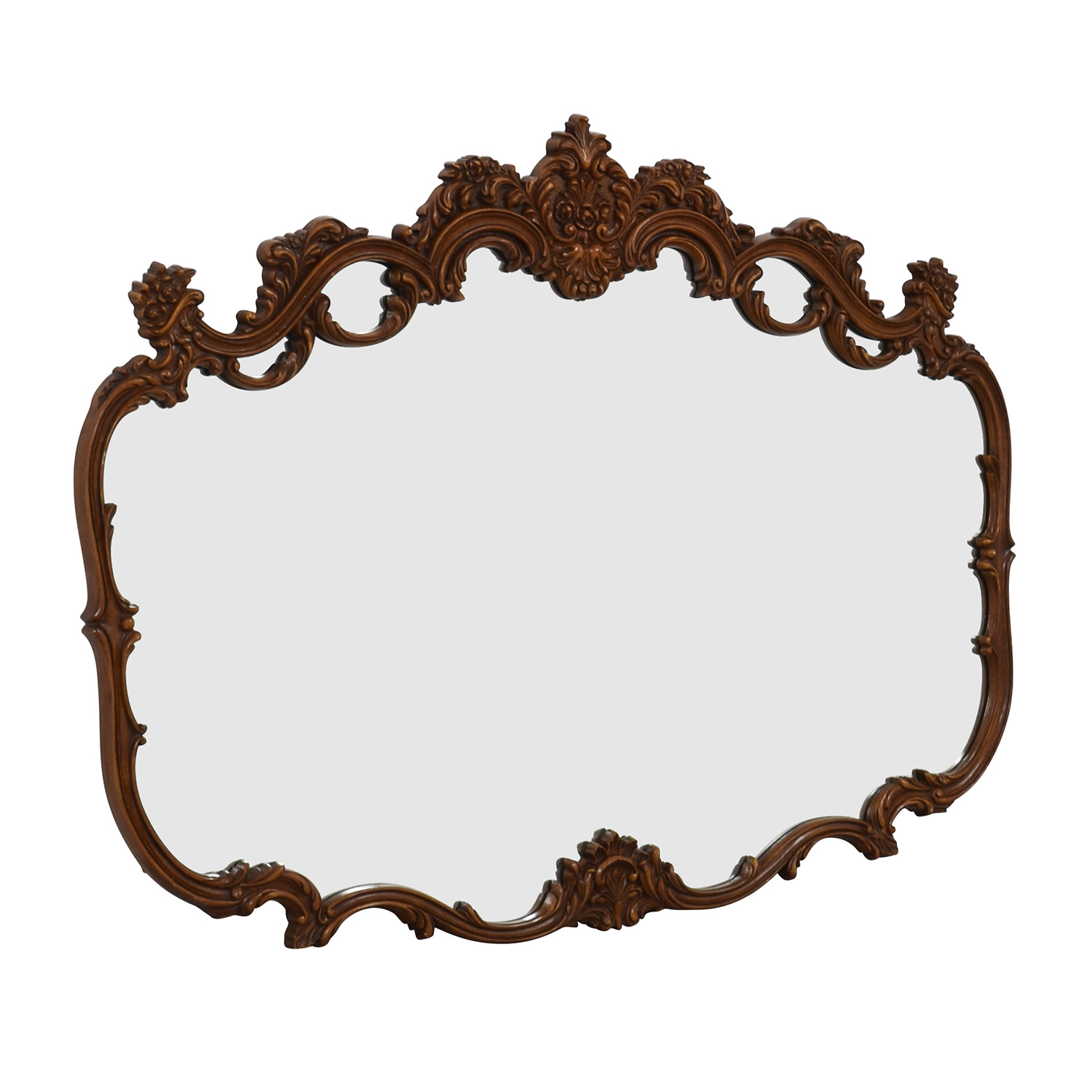 Wood Carved Mirror Decor