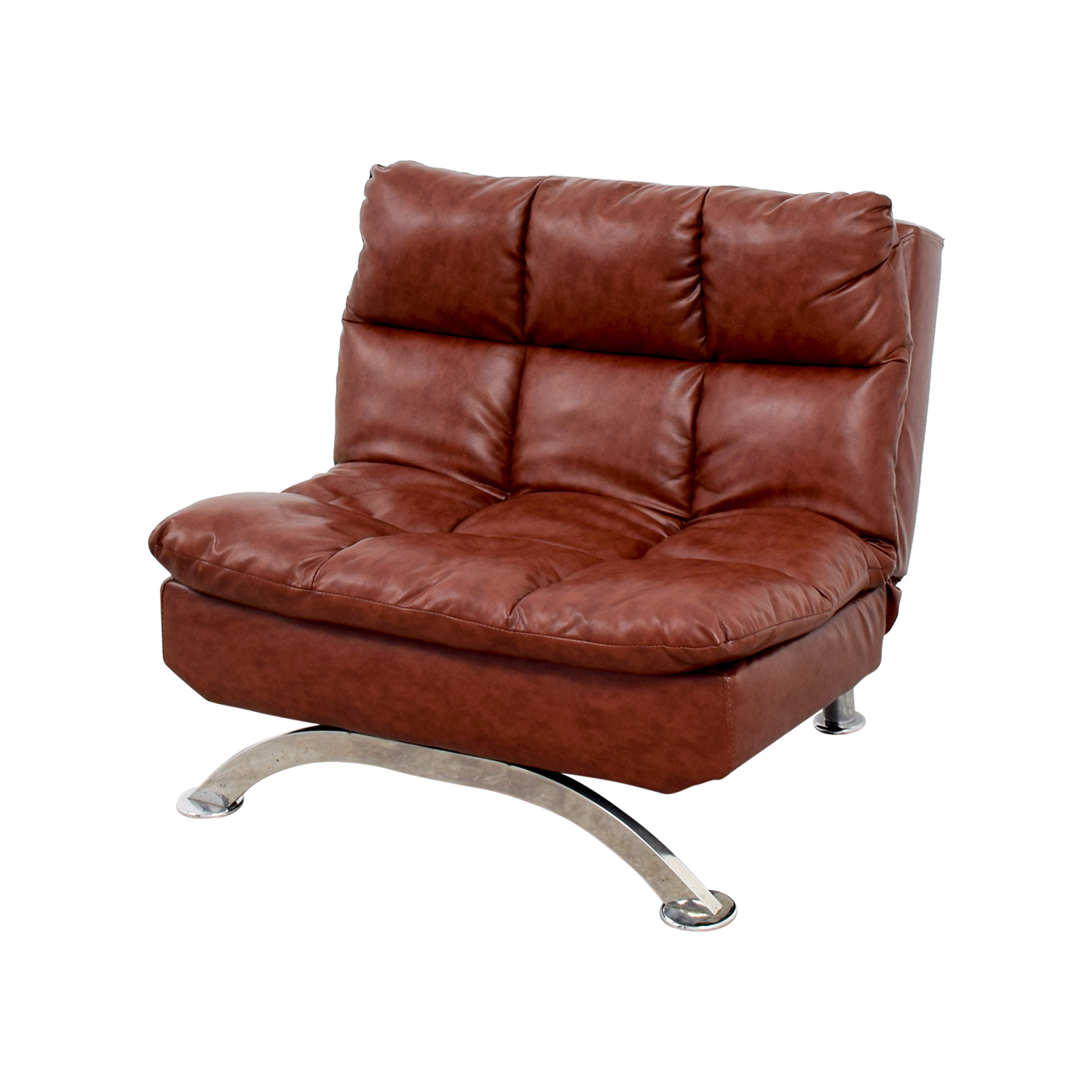 Wayfair Love Brown Leather Tufted Reclining Chair