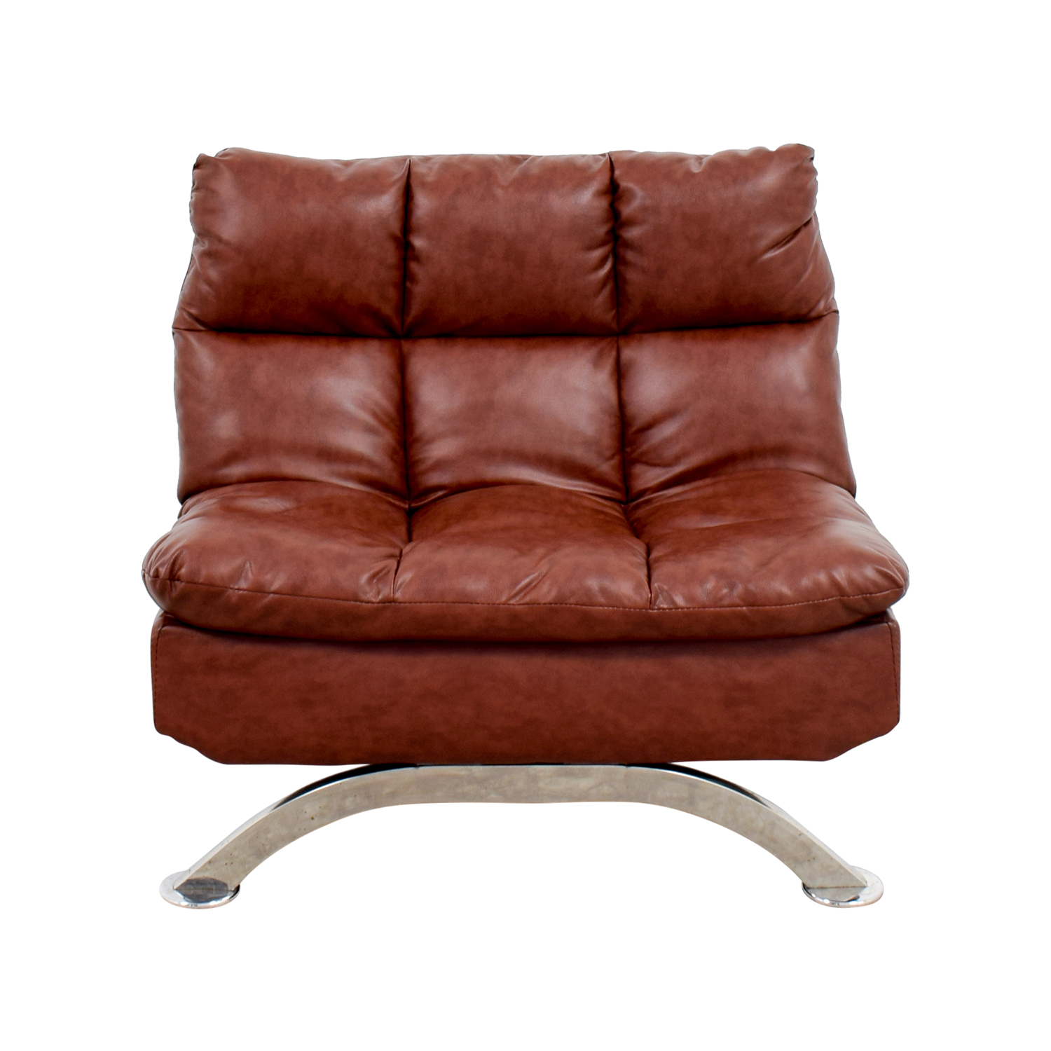 Wayfair Love Brown Leather Tufted Reclining Chair Accent Chairs
