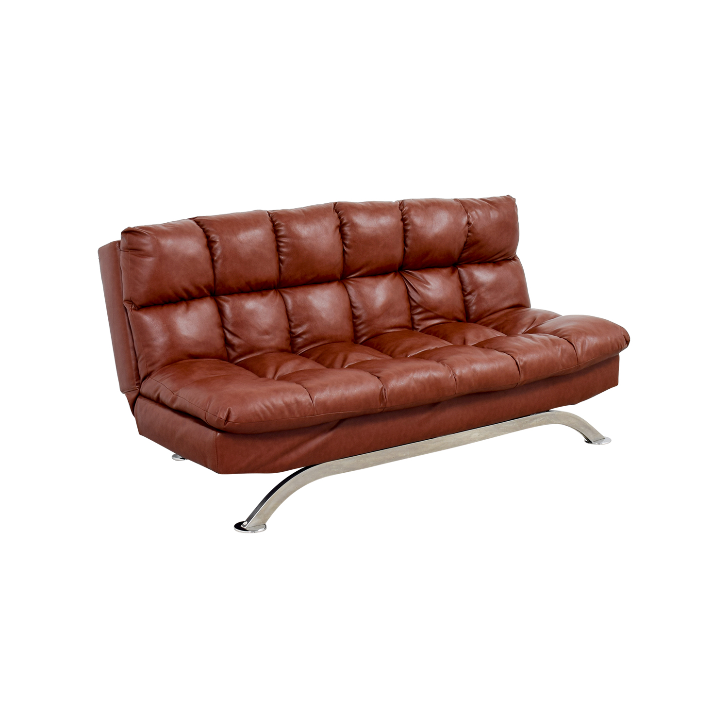 Astonishing 62 Off Wayfair Wayfair Brookeville Brown Leather Sleeper Futon Sofas Andrewgaddart Wooden Chair Designs For Living Room Andrewgaddartcom