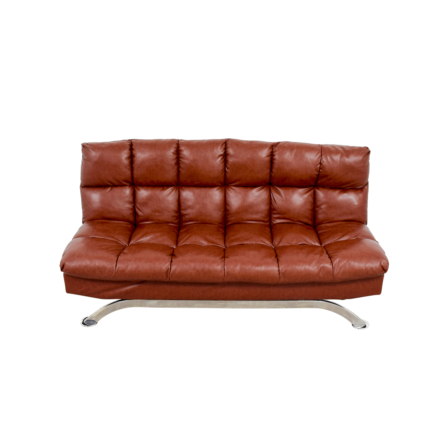 Groovy 62 Off Wayfair Wayfair Brookeville Brown Leather Sleeper Futon Sofas Andrewgaddart Wooden Chair Designs For Living Room Andrewgaddartcom