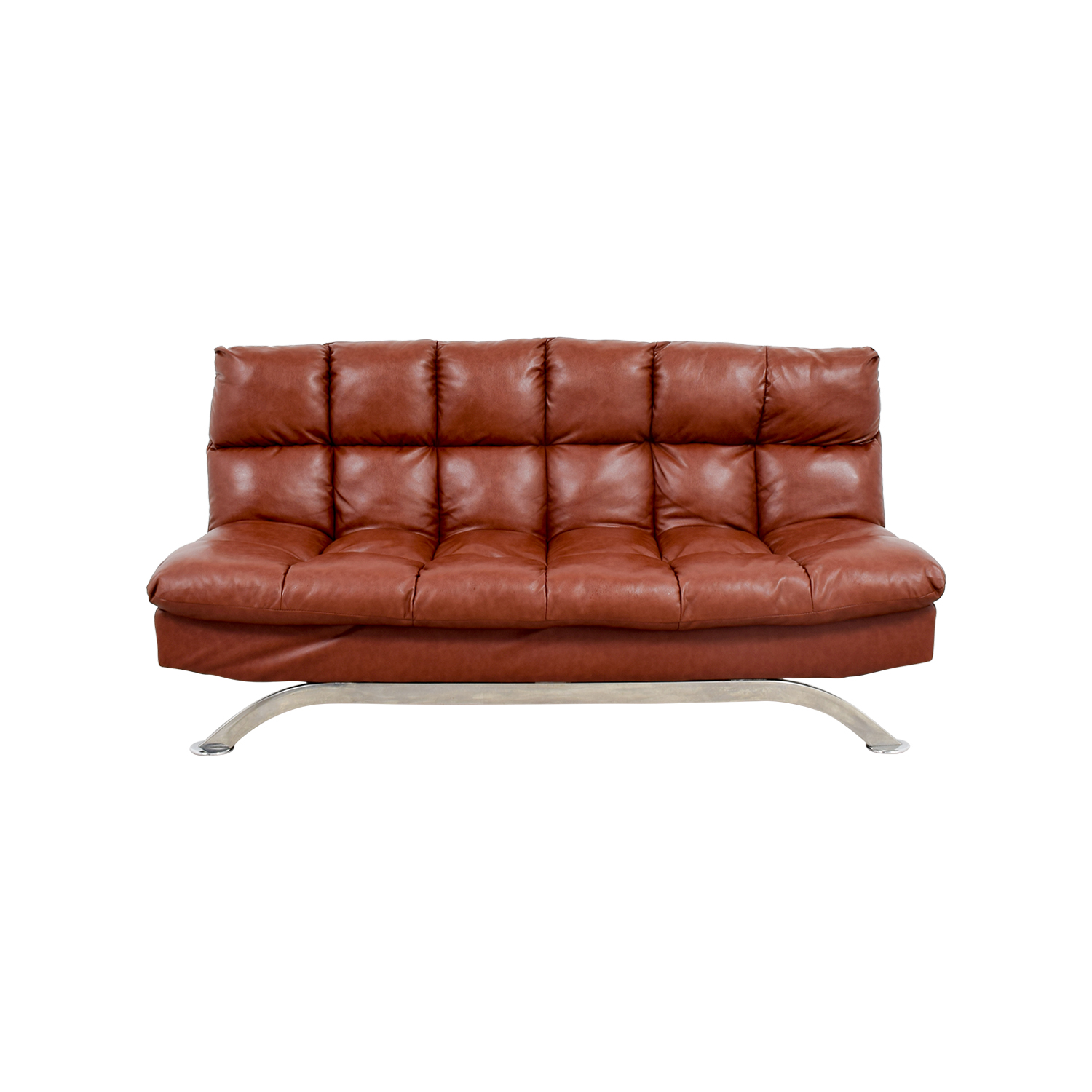 Pleasing 62 Off Wayfair Wayfair Brookeville Brown Leather Sleeper Futon Sofas Andrewgaddart Wooden Chair Designs For Living Room Andrewgaddartcom