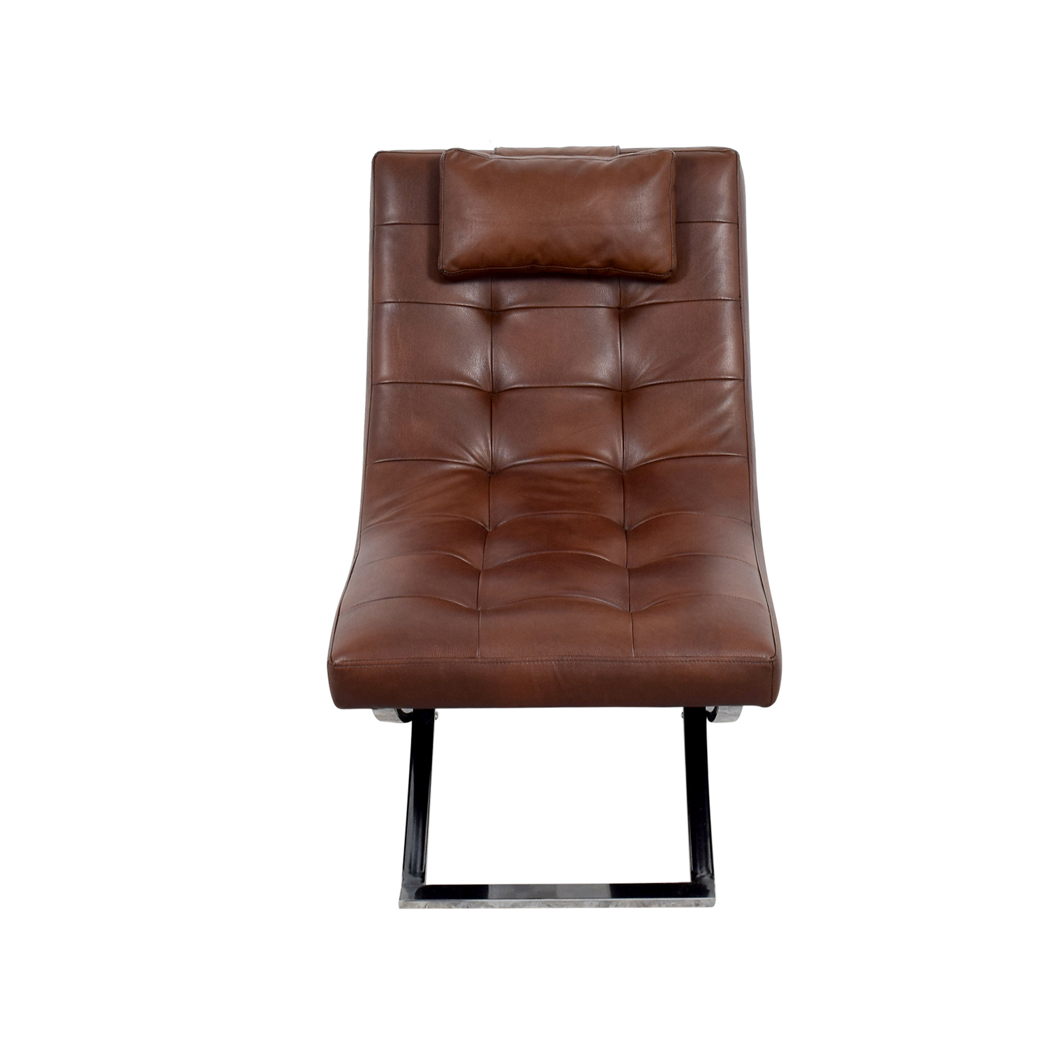 Raymour & Flanigan Raymour & Flanigan Brown Leather Chair on sale