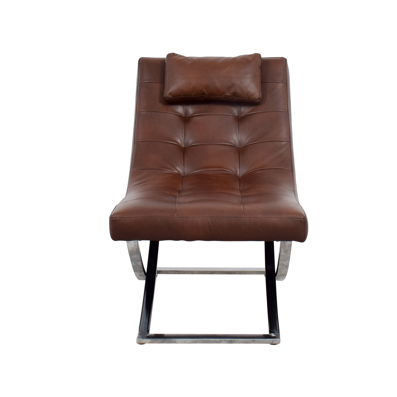 Raymour & Flanigan Raymour & Flanigan Brown Leather Chair used