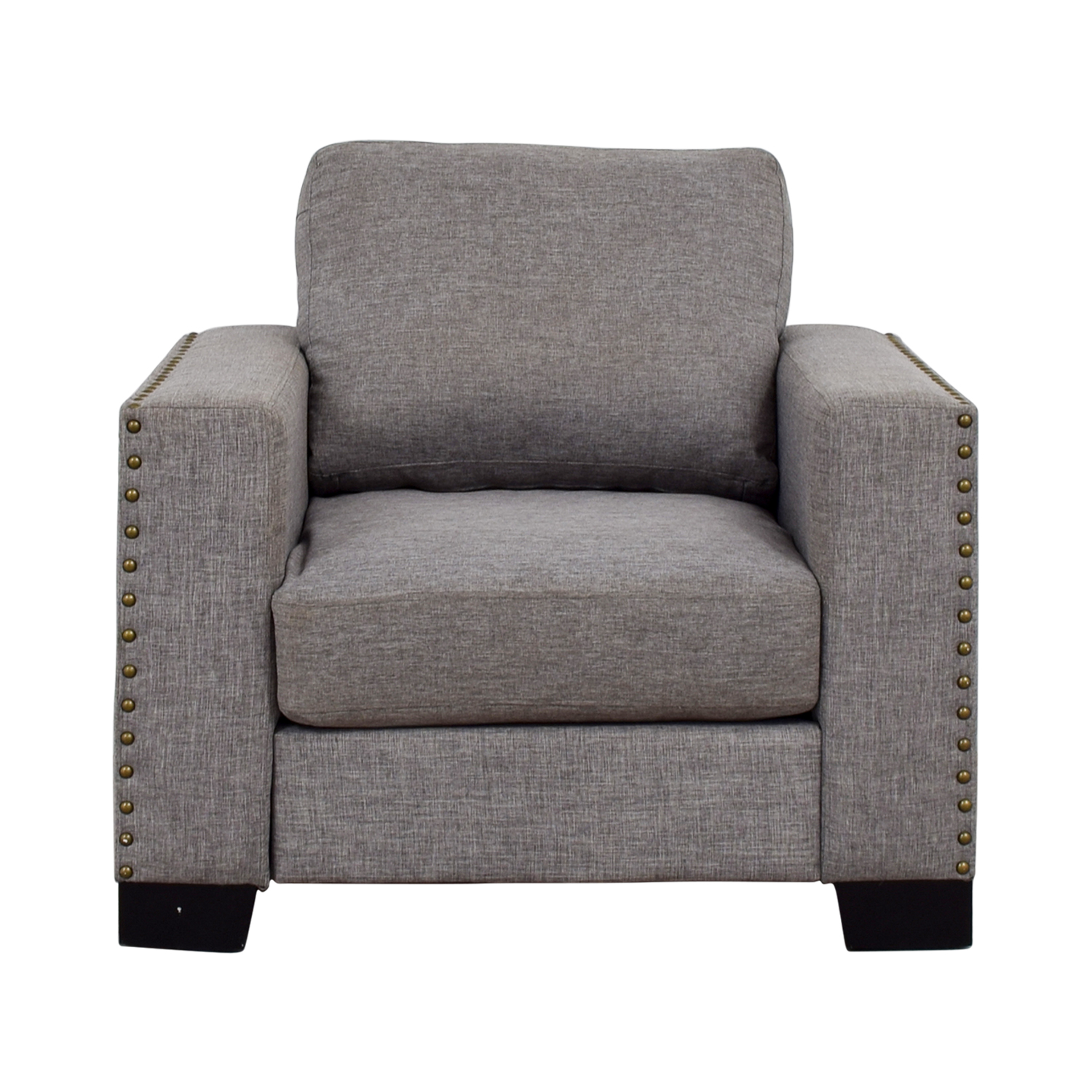67% OFF   Inspire Q Inspire Q Classic Grey Nailhead Track Arm Accent Chair  / Chairs