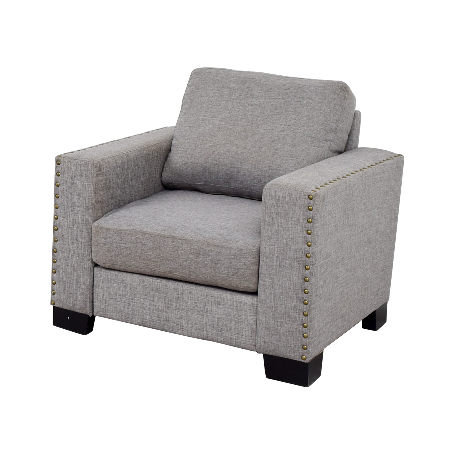 ... Inspire Q Classic Inspire Q Classic Grey Nailhead Track Arm Accent Chair  Nj ...