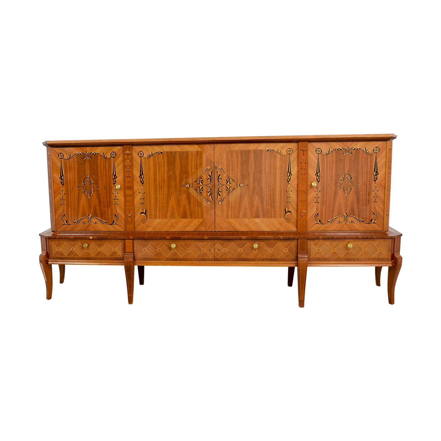 Romanian Sheraton Solid Wood Sideboard dimensions