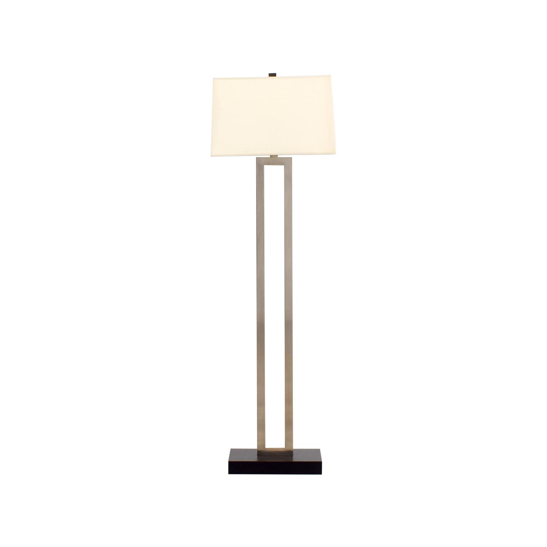 Crate & Barrel Crate & Barrel Floor Lamp Silver/ Metal