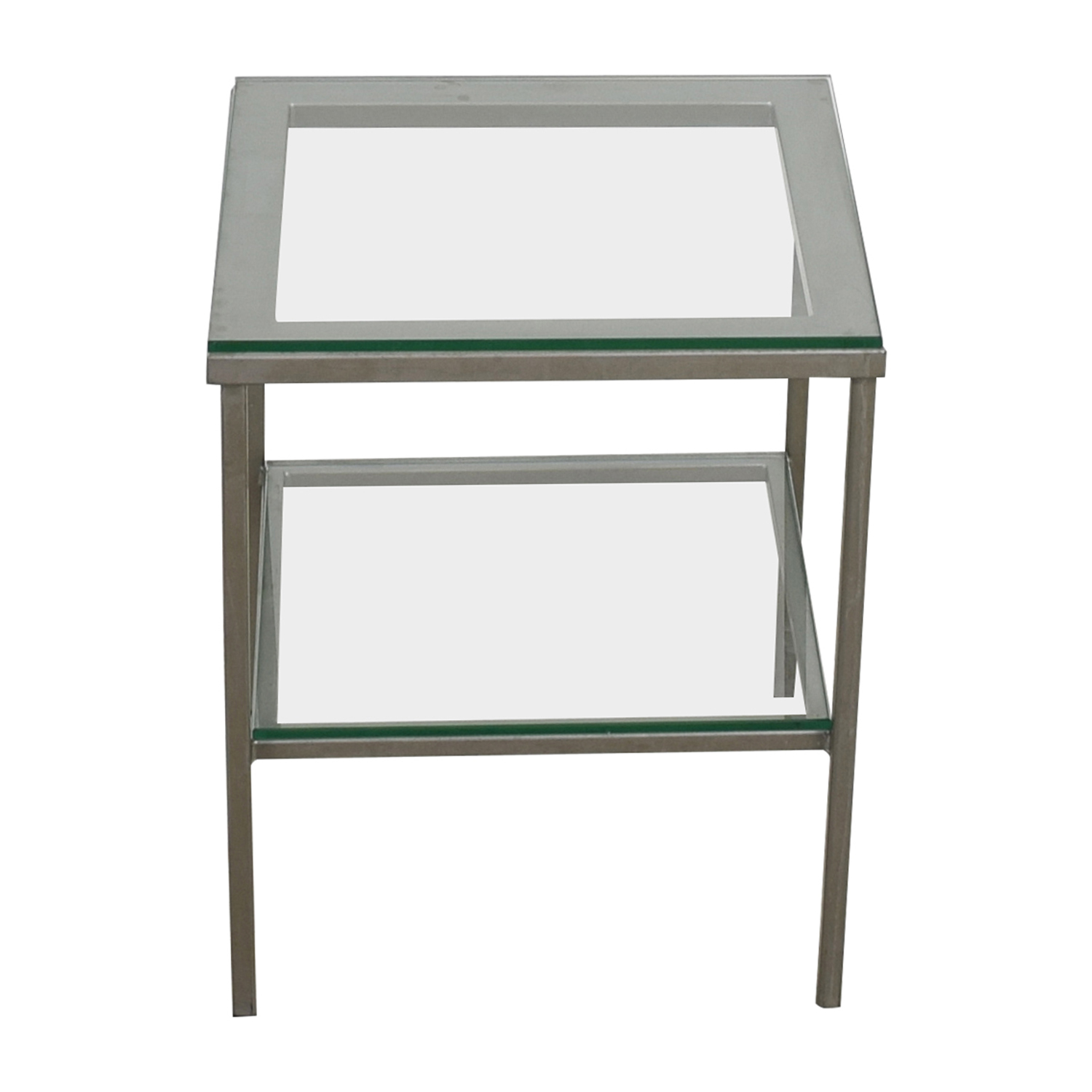 buy Crate & Barrel Glass Chrome Side Table Crate & Barrel Tables