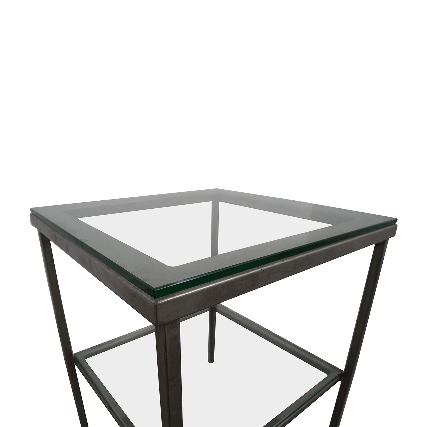 81% OFF Crate & Barrel Crate & Barrel Glass Chrome Side Table