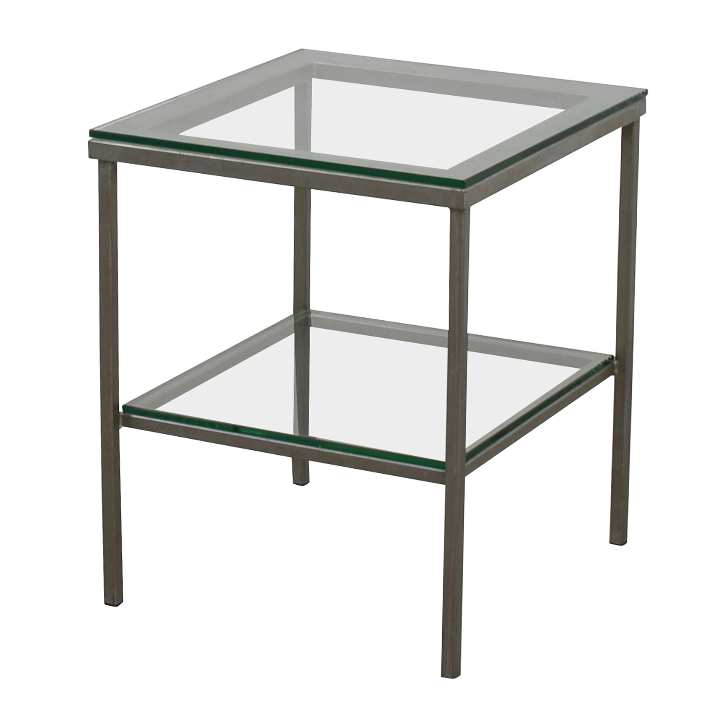 Crate And Barrel Tables: Crate & Barrel Crate & Barrel Glass Chrome Side
