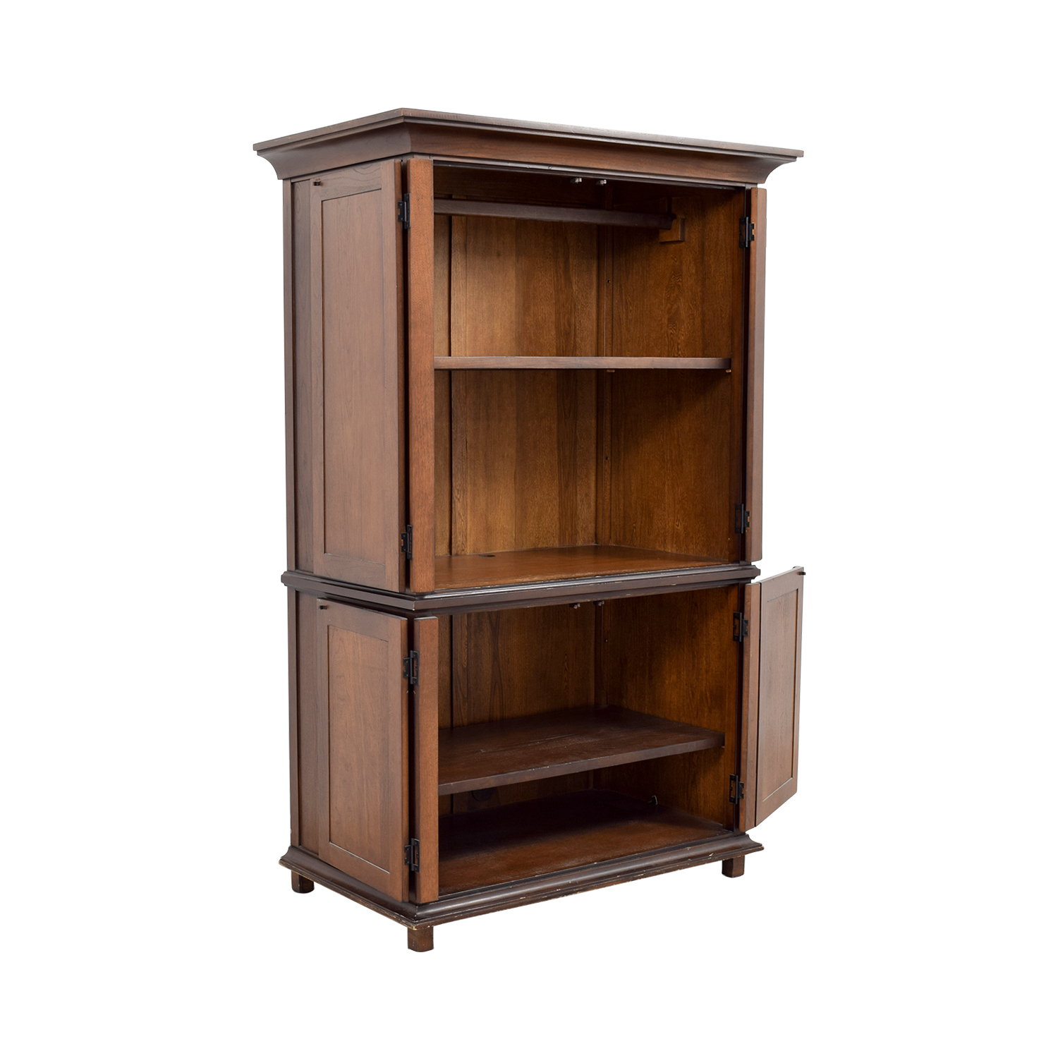 75 Off Pottery Barn Pottery Barn Armoire With Shelves
