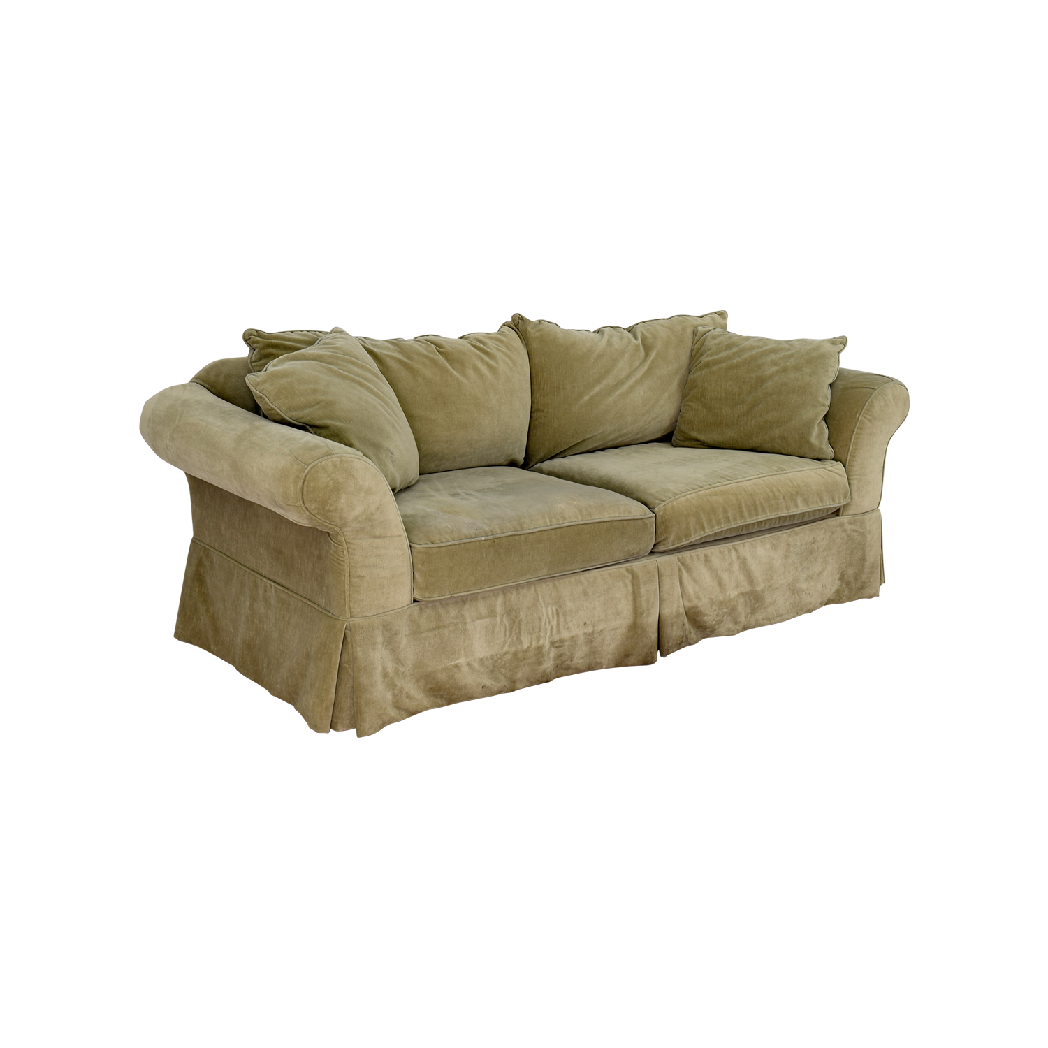 90 off domain domain green skirted couch sofas. Black Bedroom Furniture Sets. Home Design Ideas