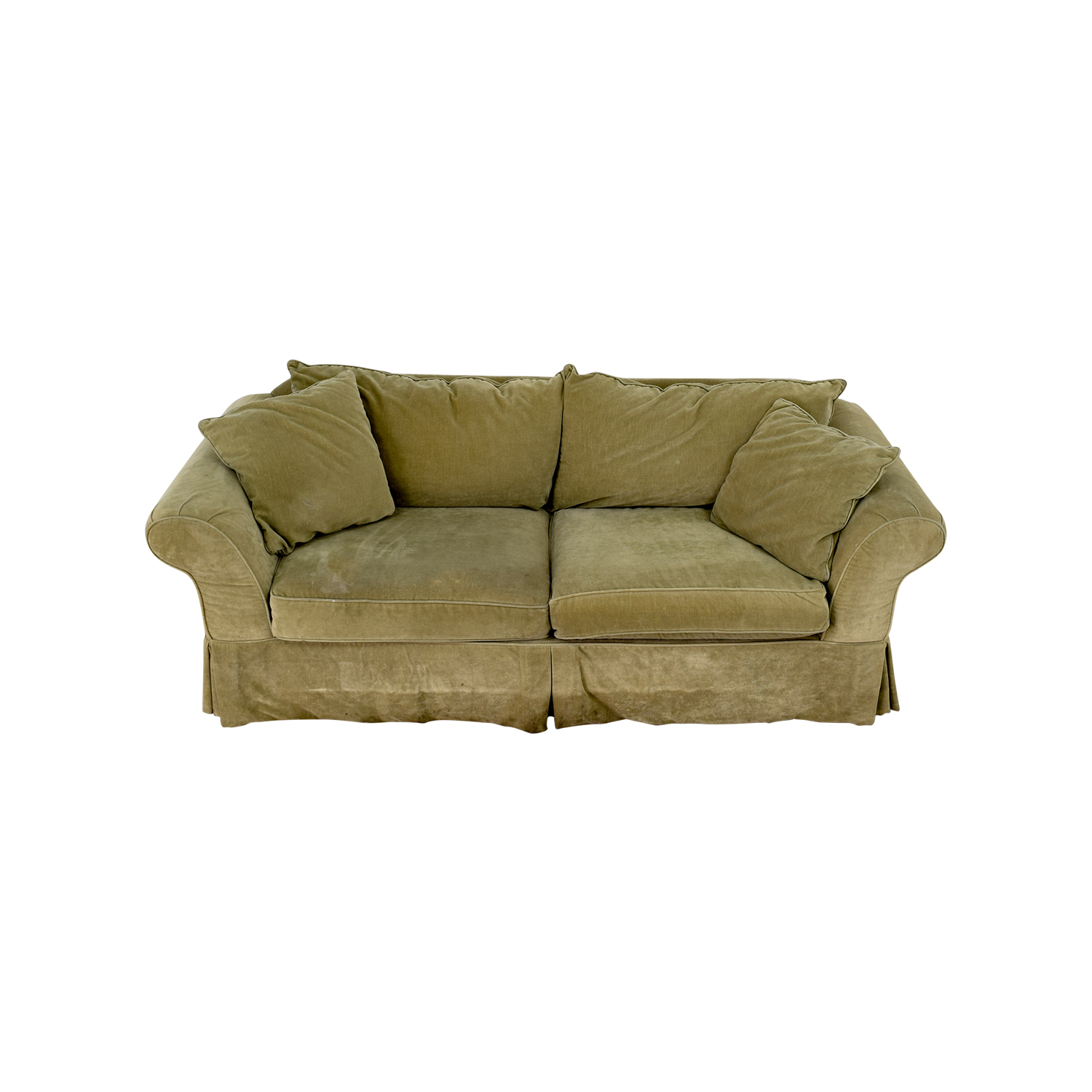 Domain Domain Green Skirted Couch second hand