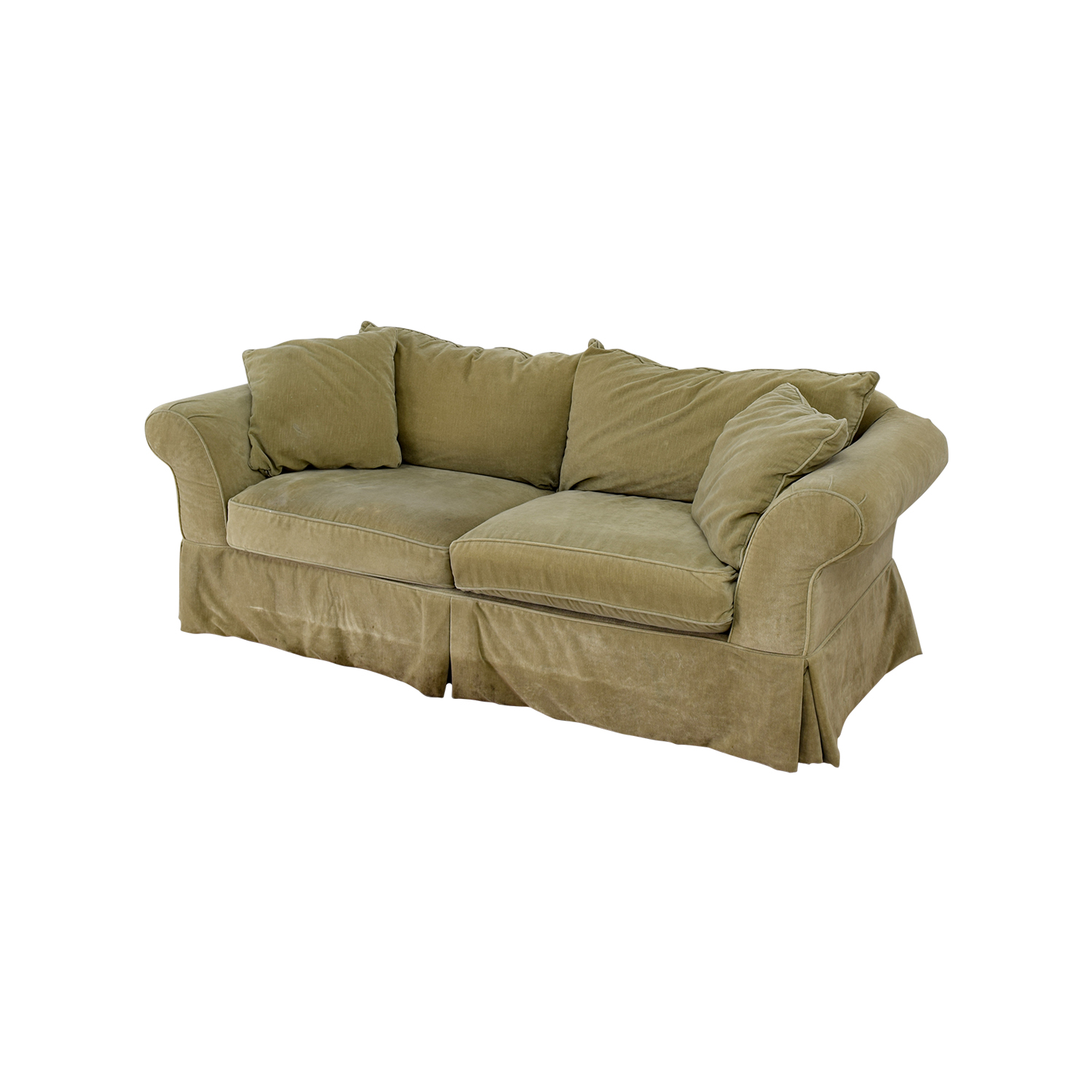 ... Shop Domain Domain Green Skirted Couch Online ...