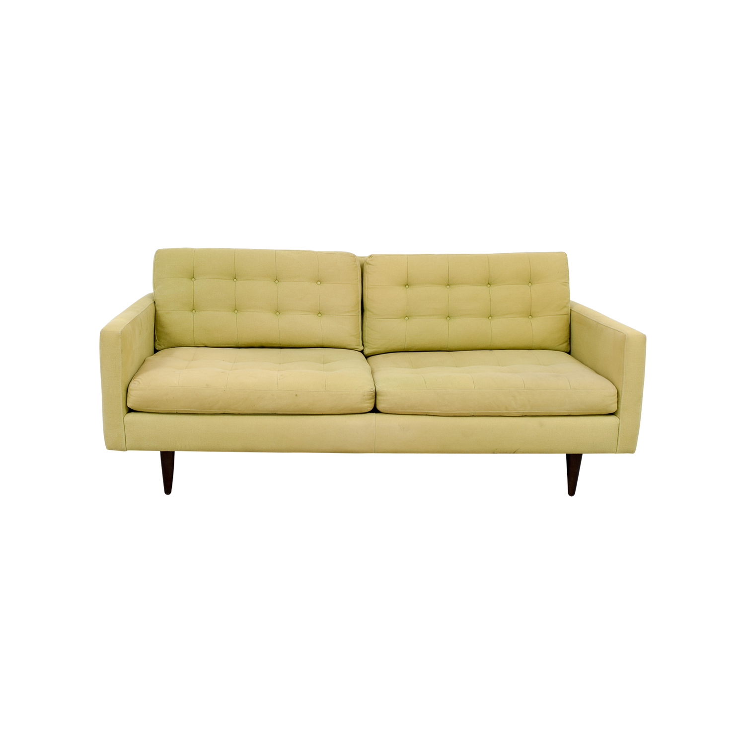Crate & Barrel Crate & Barrel Petrie Pale Green Tufted Sofa coupon