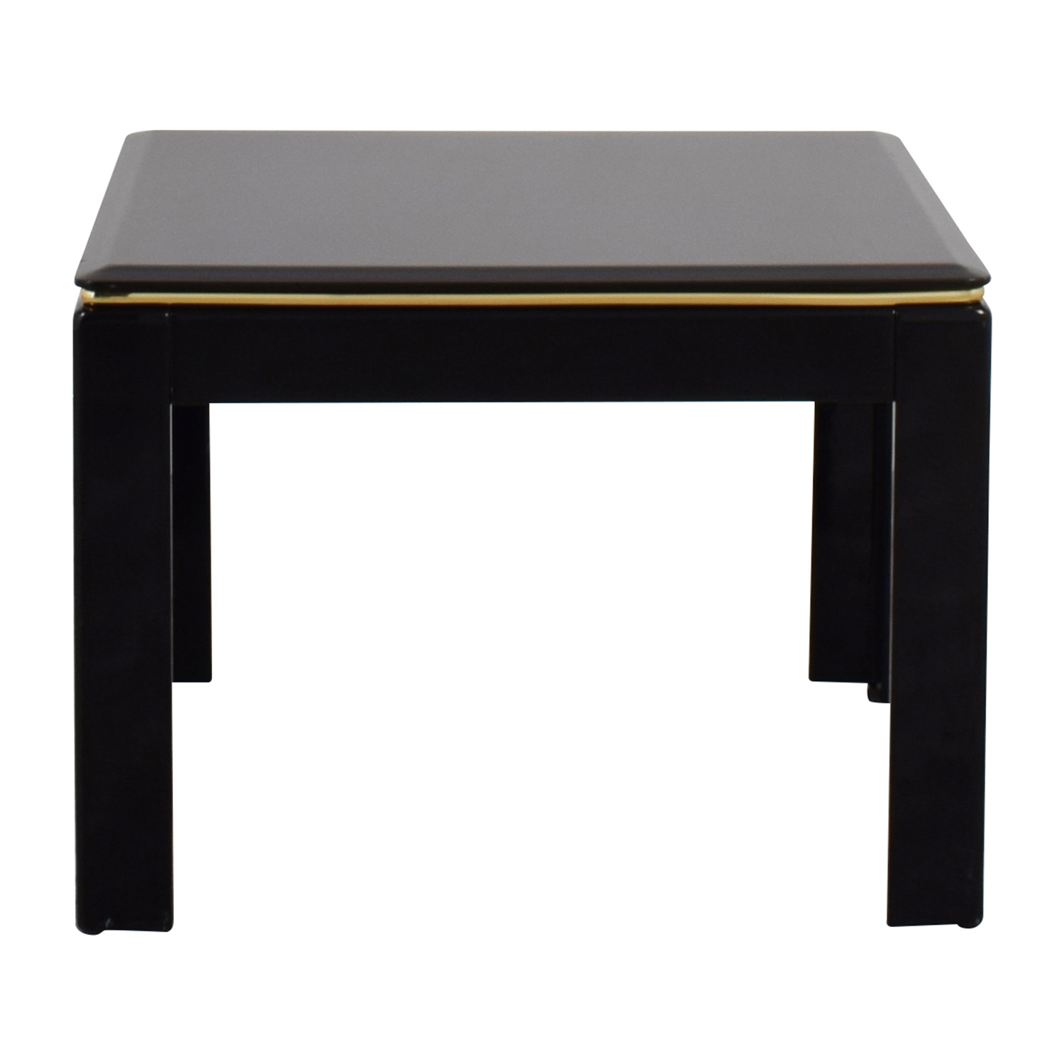 Delightful Black Lacquer End Table ...