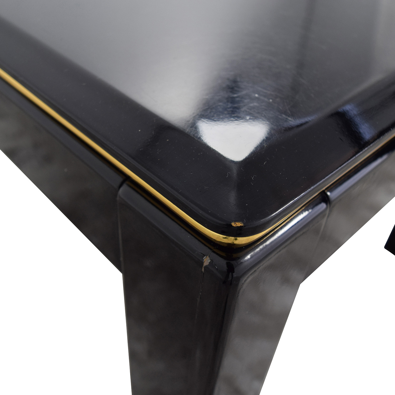 ... Black Lacquer End Table / End Tables