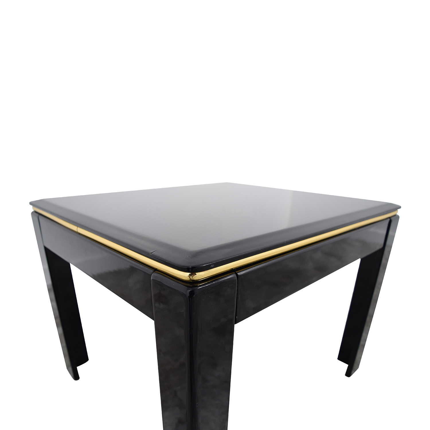 76% OFF Black Lacquer End Table Tables