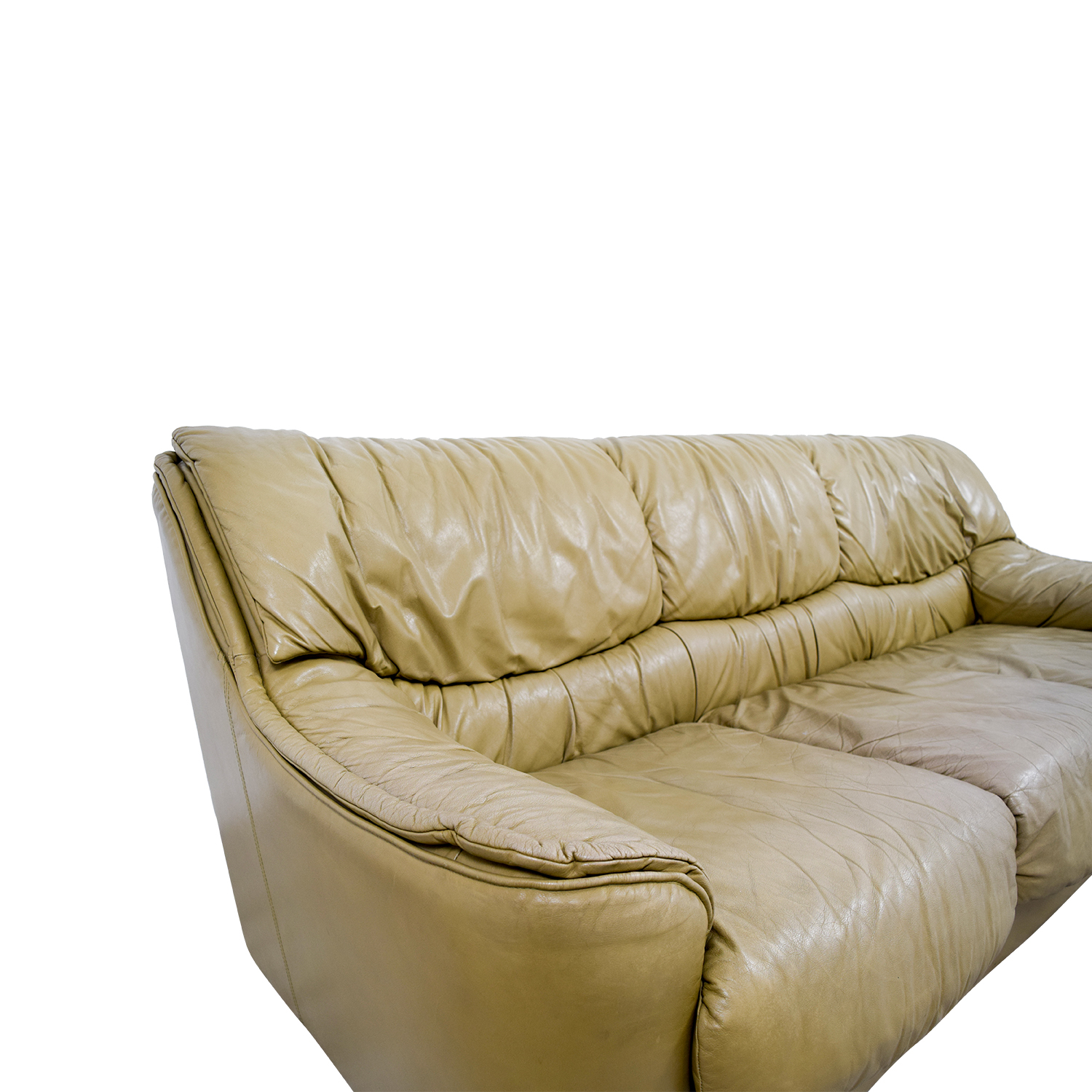 Beige Leather Sofa Sofas