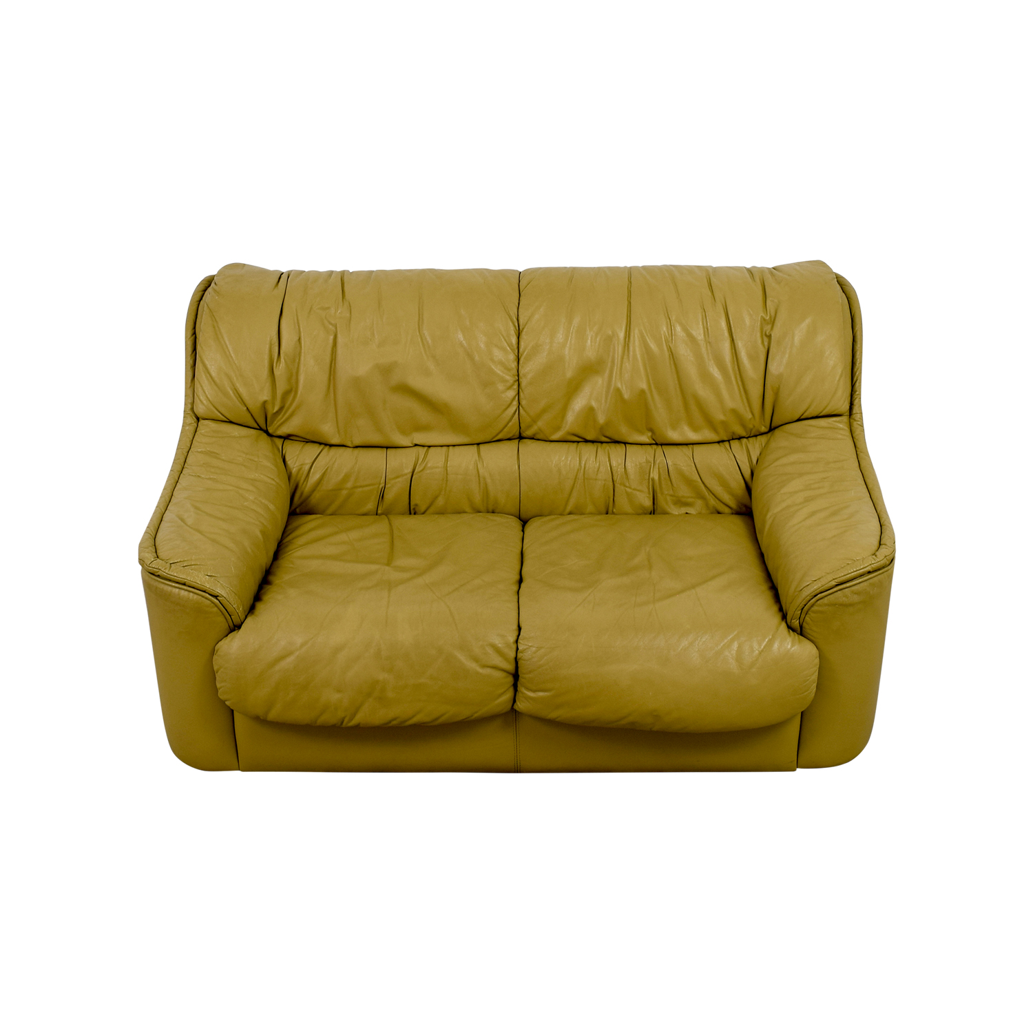 Tan Two-Cushion Love Seat on sale