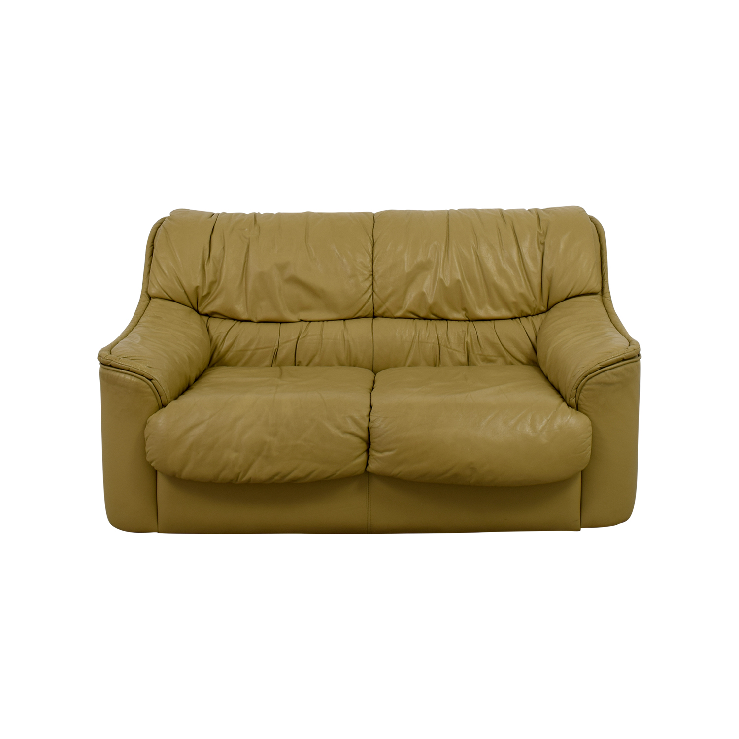 Tan Two-Cushion Love Seat
