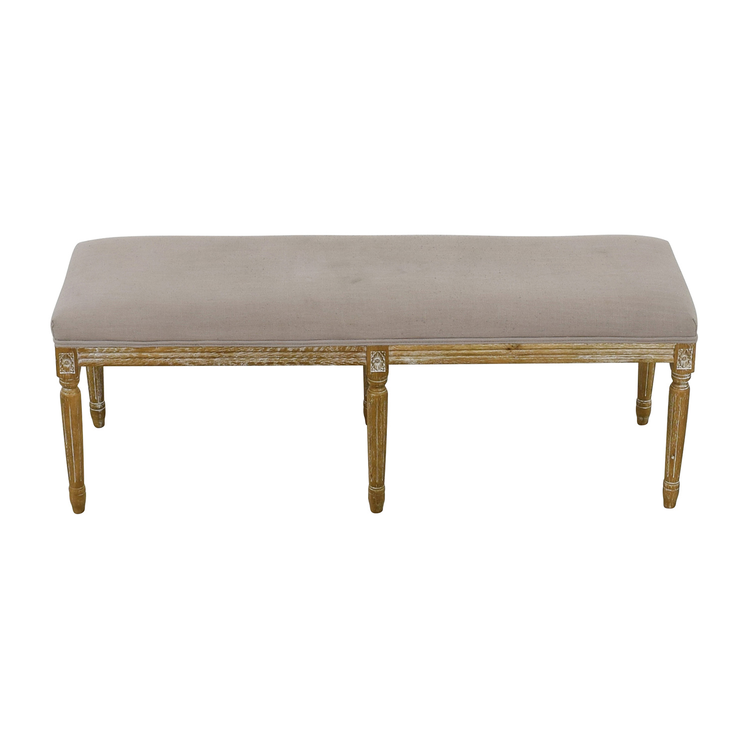 shop Baxton Studio Clairette Wood Traditional French Bench Baxton Studio Benches