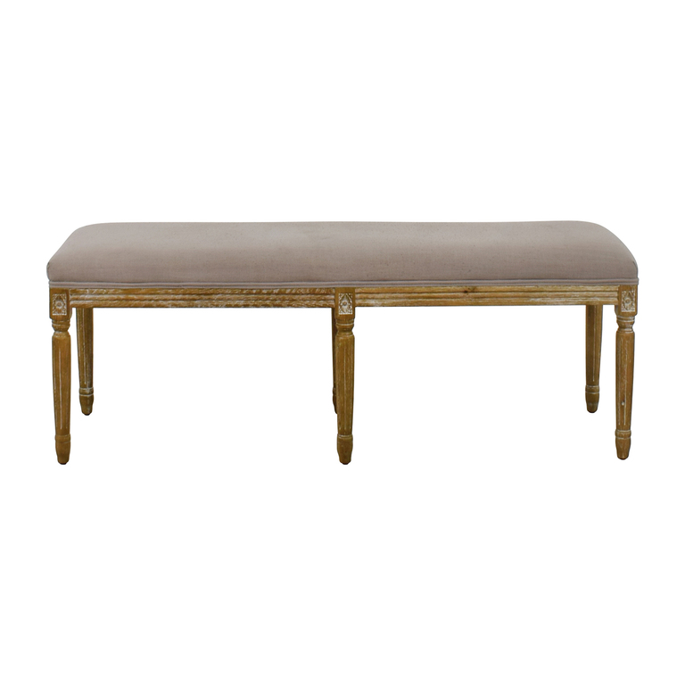 Baxton Studio Baxton Studio Clairette Wood Traditional French Bench on sale