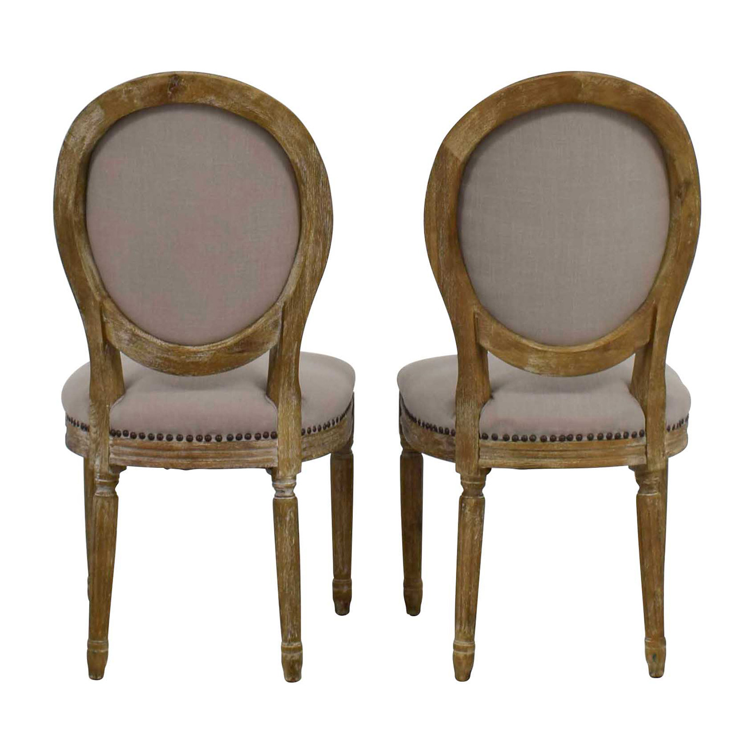 Baxton Studio Baxton Studio Clairette Traditional French Round Chair used