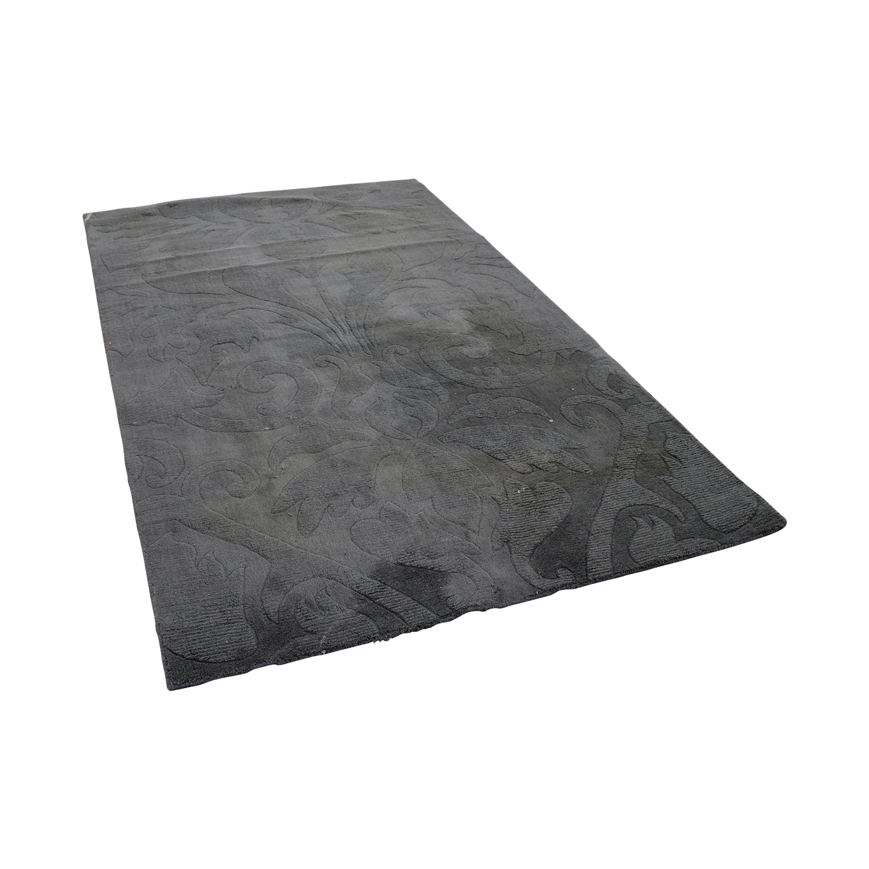 Nuloom Scroll Slate Grey Blue Rug / Decor