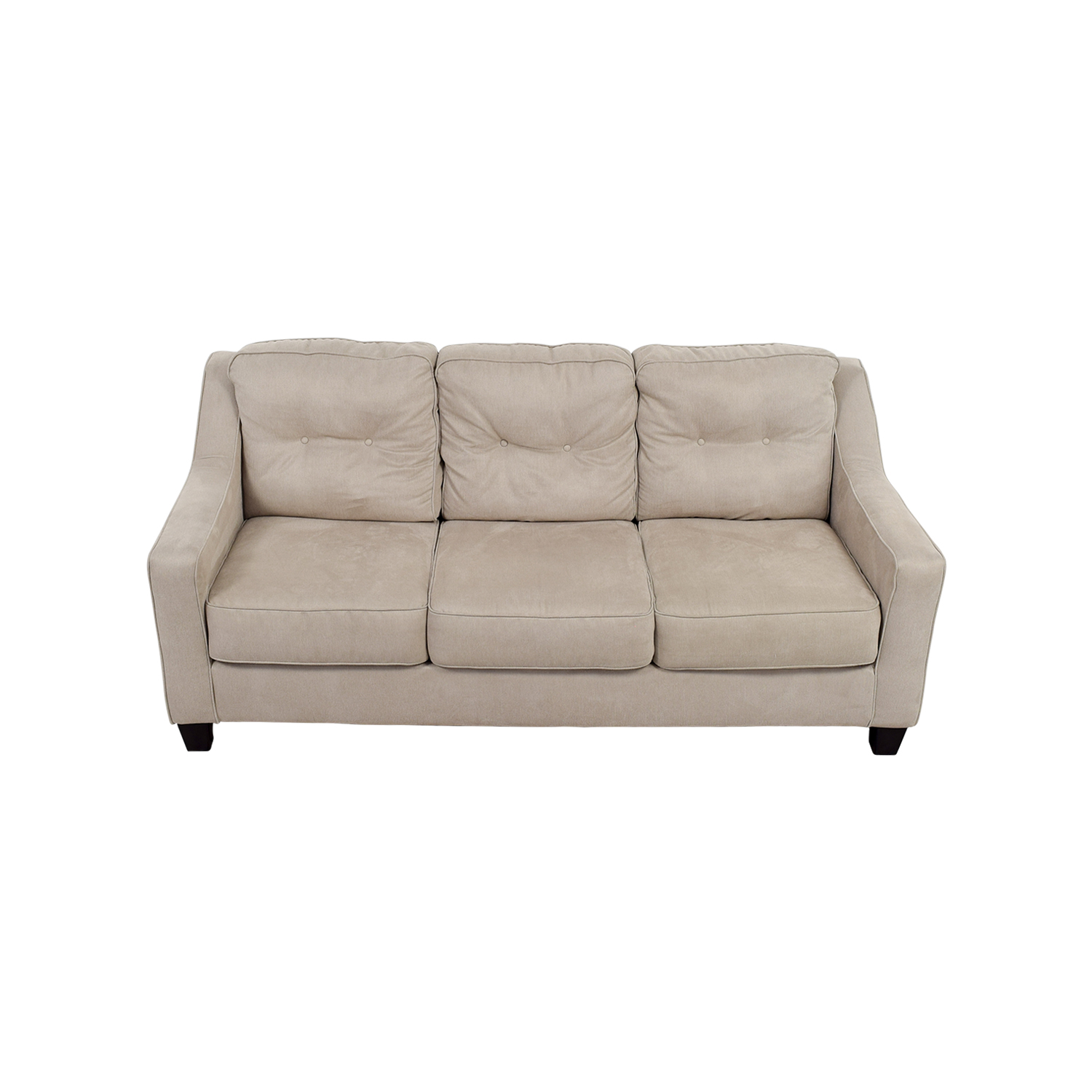 Ashley Furniture Ashley Furniture Beige Three-Cushion Couch on sale