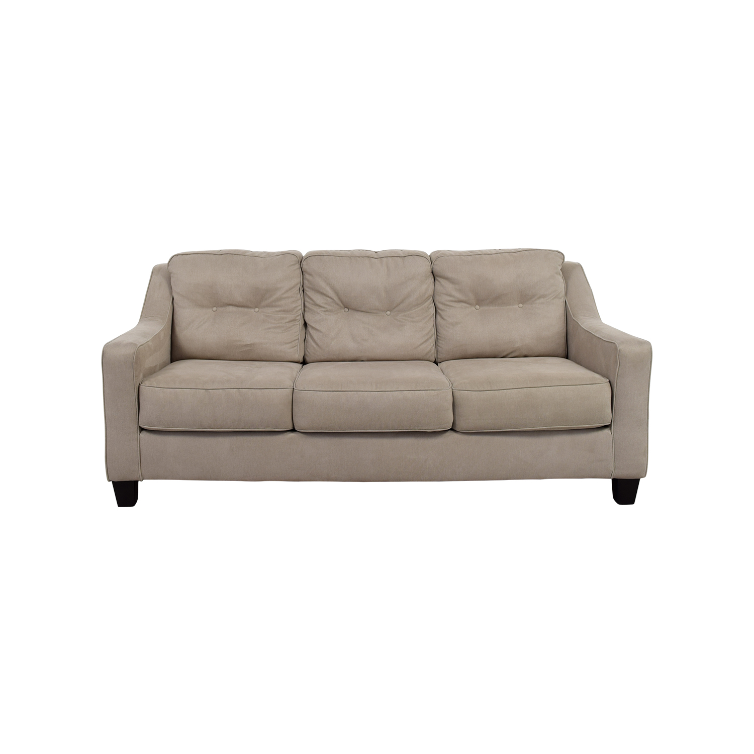 58% OFF Ashley Furniture Ashley Furniture Beige Three Cushion