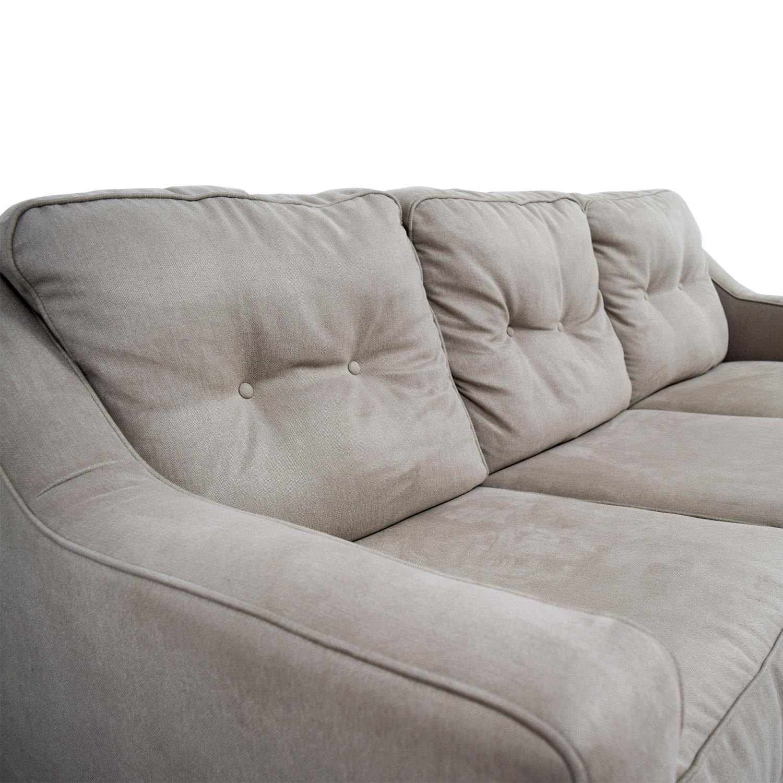 58% OFF Ashley Furniture Ashley Furniture Beige Three Cushion