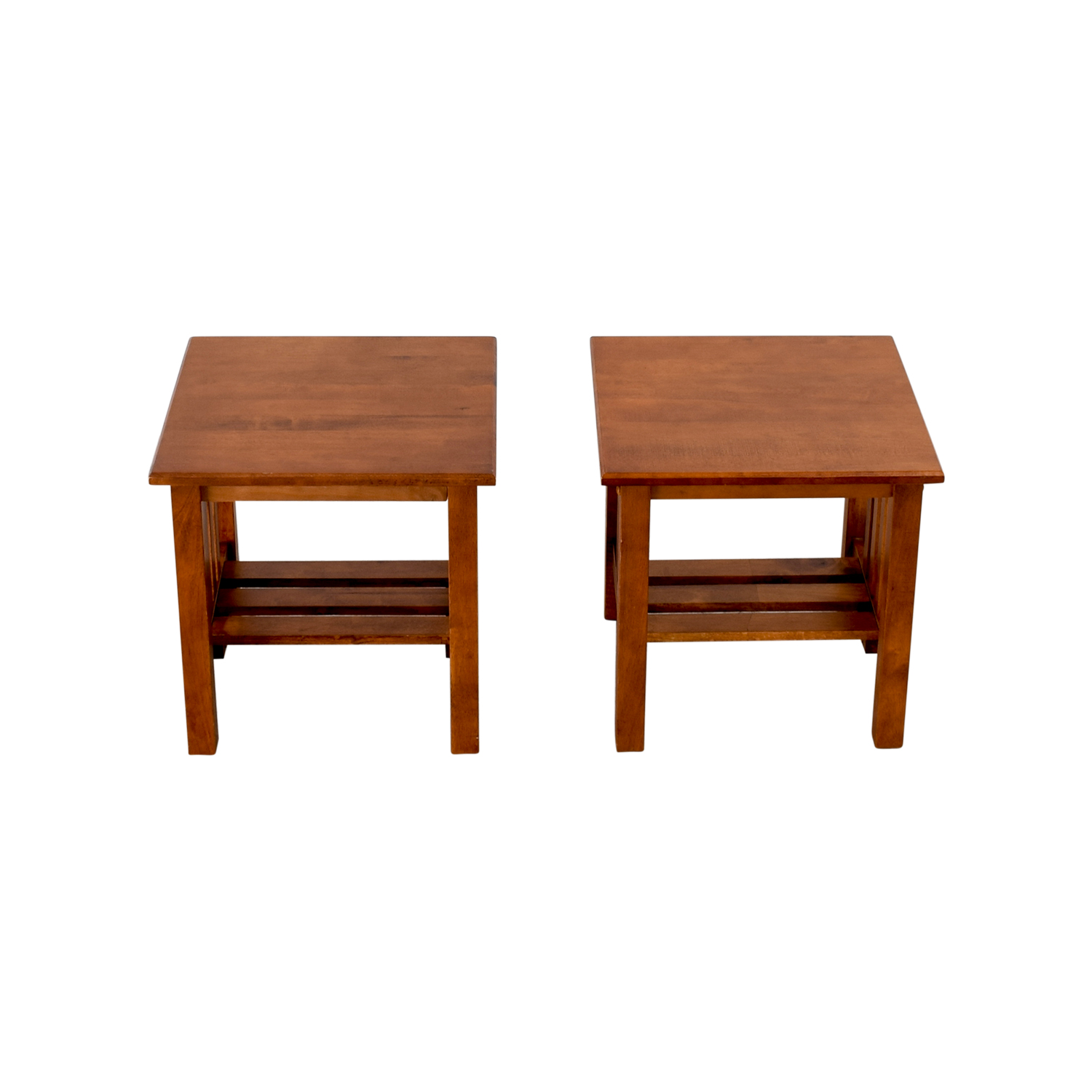 Craftsman Style Wood End Tables / Tables