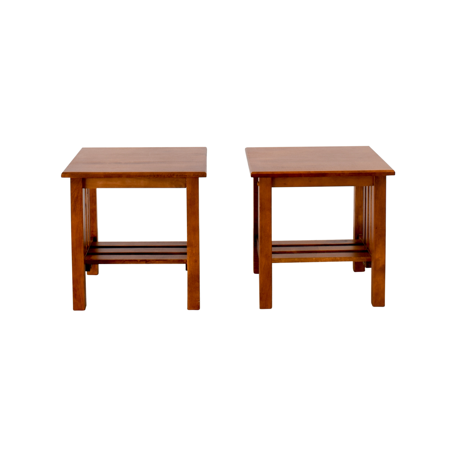 Craftsman Style Wood End Tables
