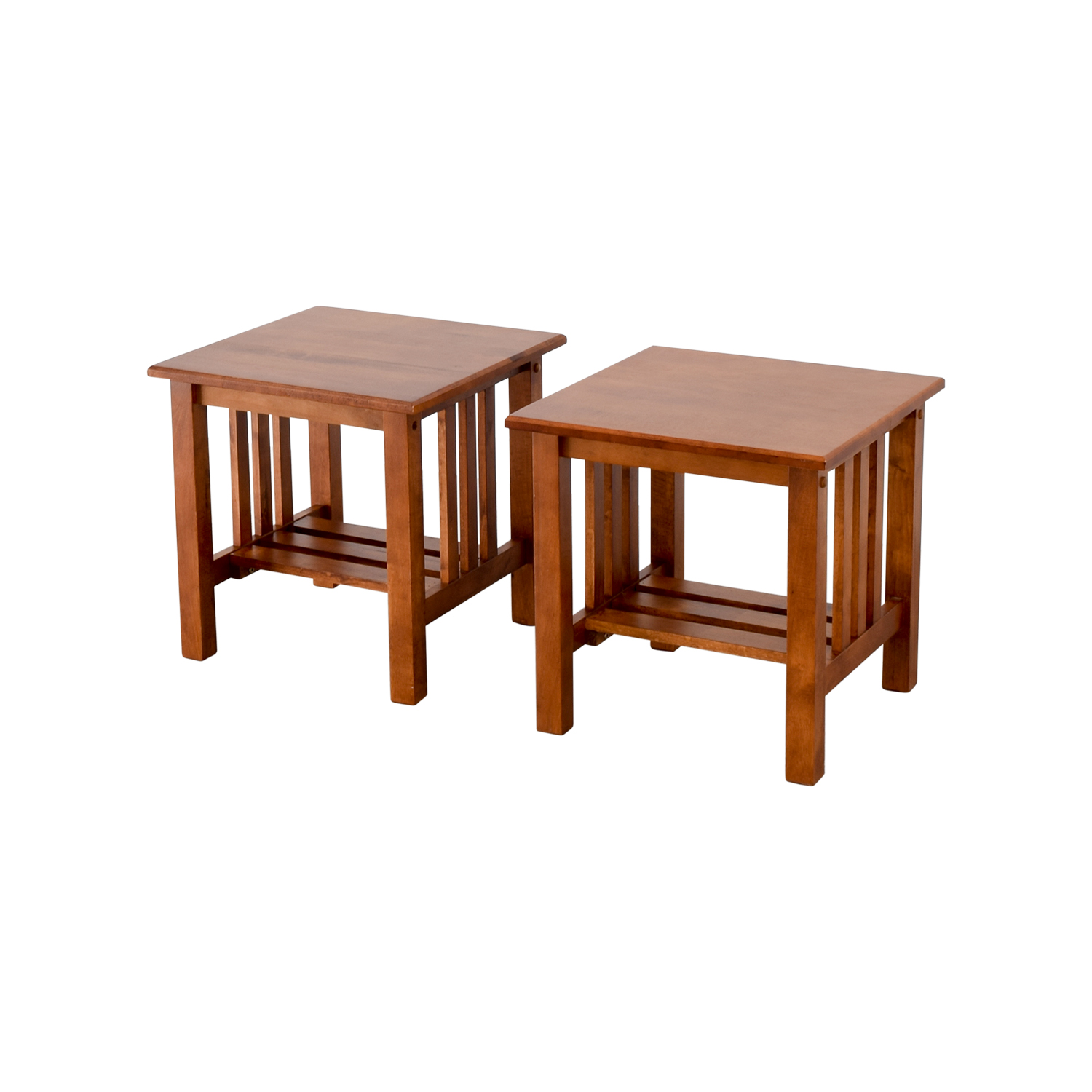 89 Off Craftsman Style Wood End Tables Tables