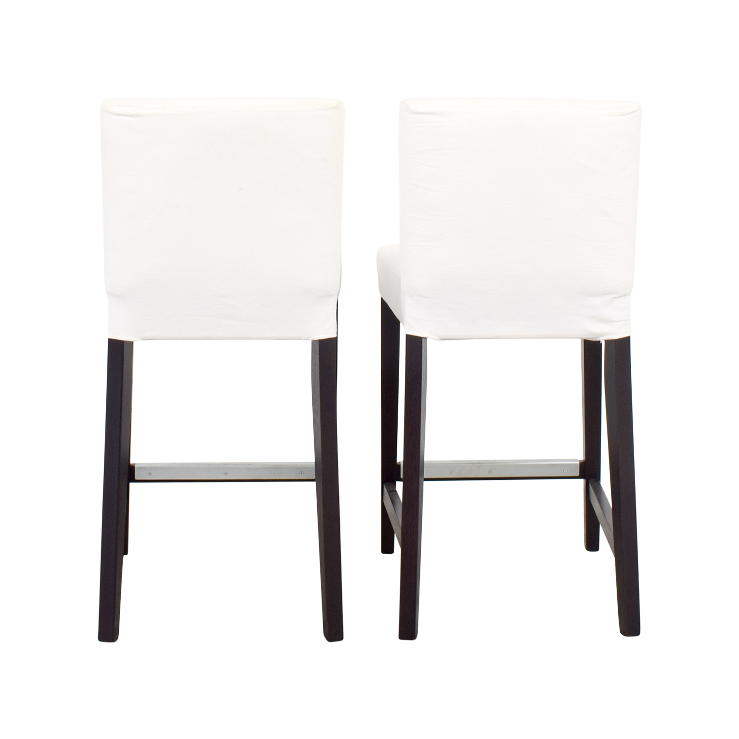 ... IKEA IKEA HENRIKSDAL White Covered Bar Stools for sale ...  sc 1 st  Furnishare & 69% OFF - IKEA IKEA HENRIKSDAL White Covered Bar Stools / Chairs islam-shia.org