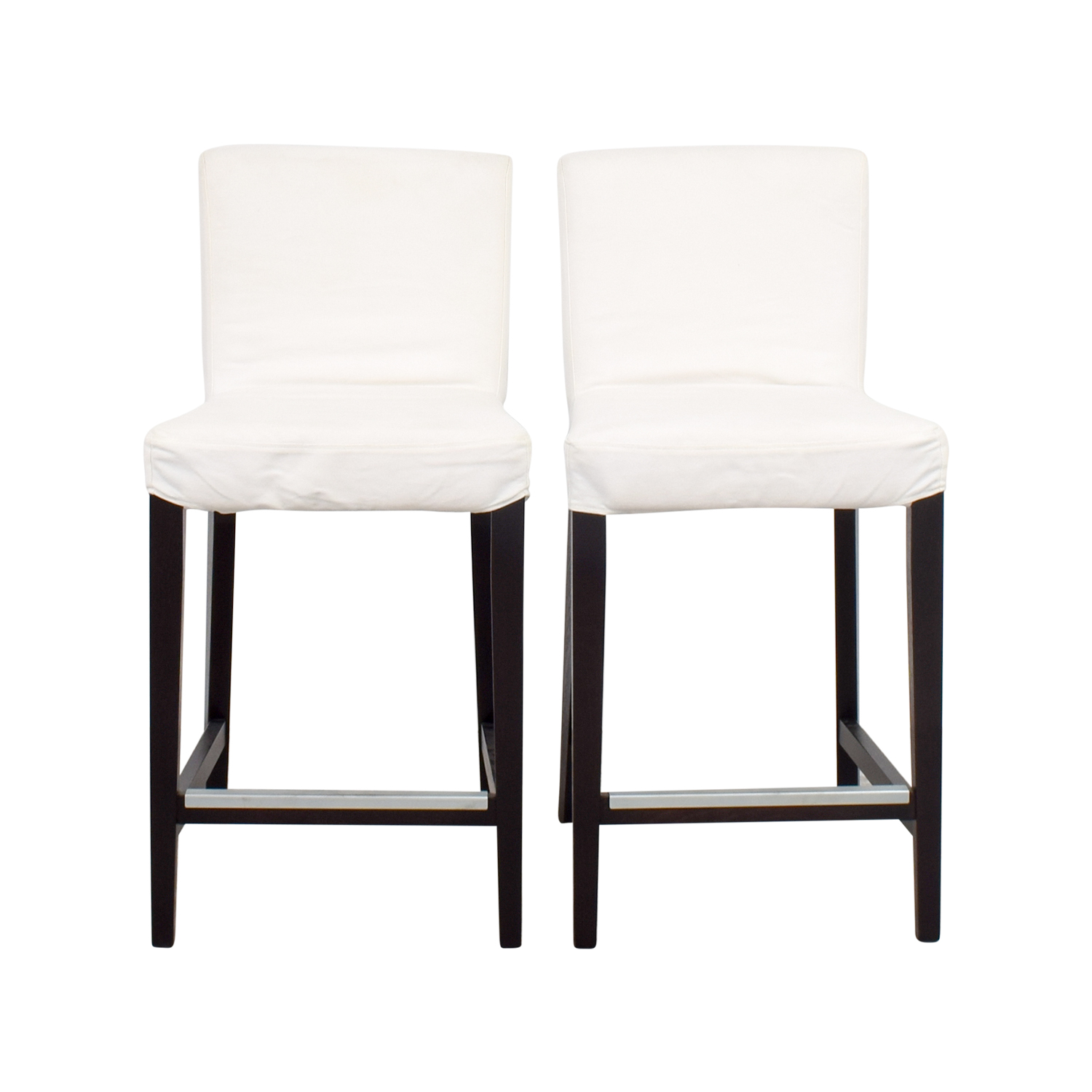 Ikea henriksdal white covered bar stools stools with for Chaises scandinaves ikea