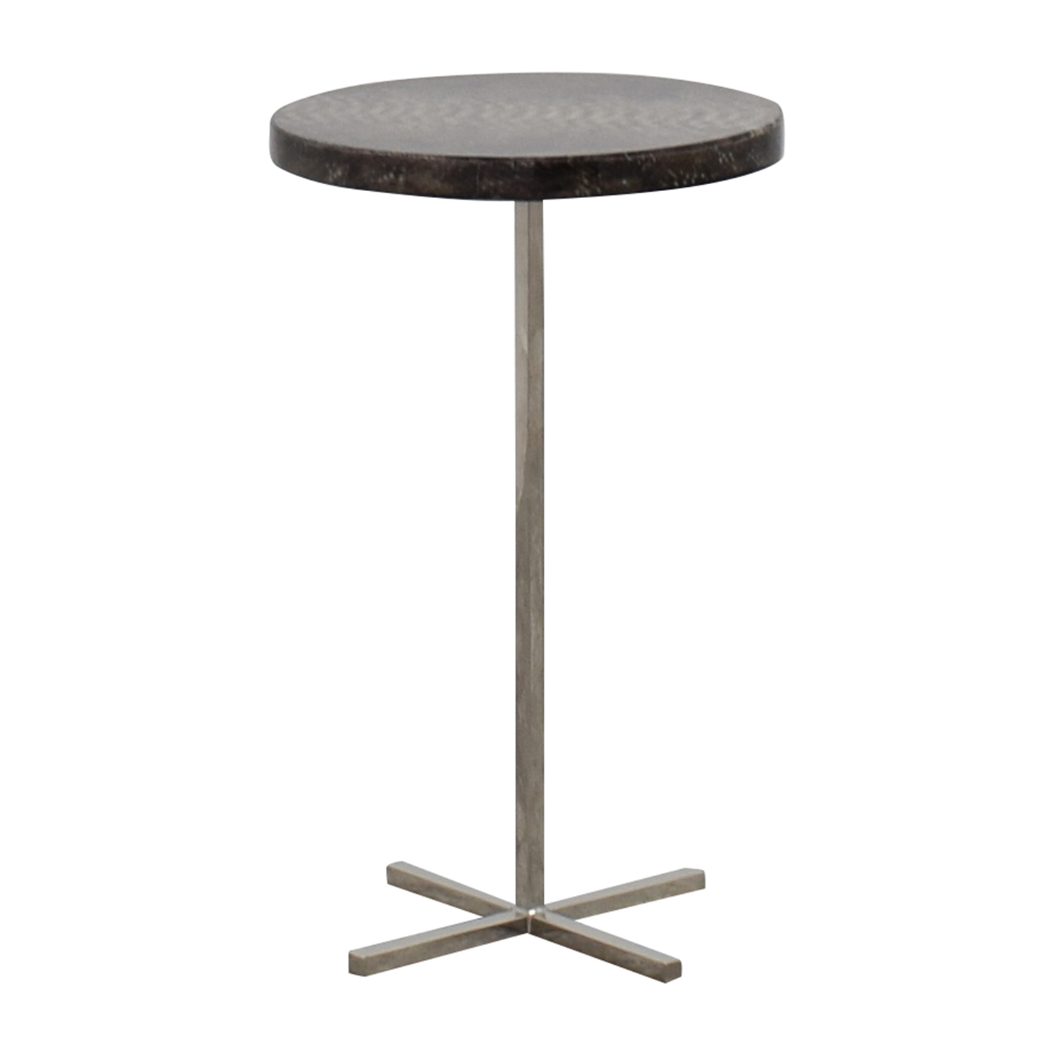 oly studio sinclair faux snakeskin and metal end table oly studio - Oly Furniture Sale