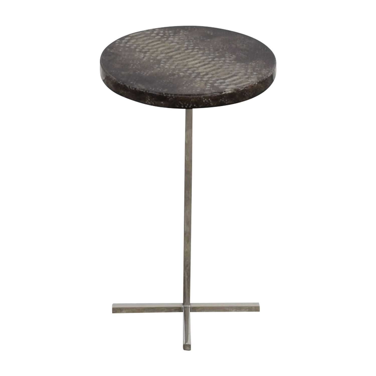 shop Oly Studio Sinclair Faux Snakeskin and Metal End Table Oly Studio End Tables